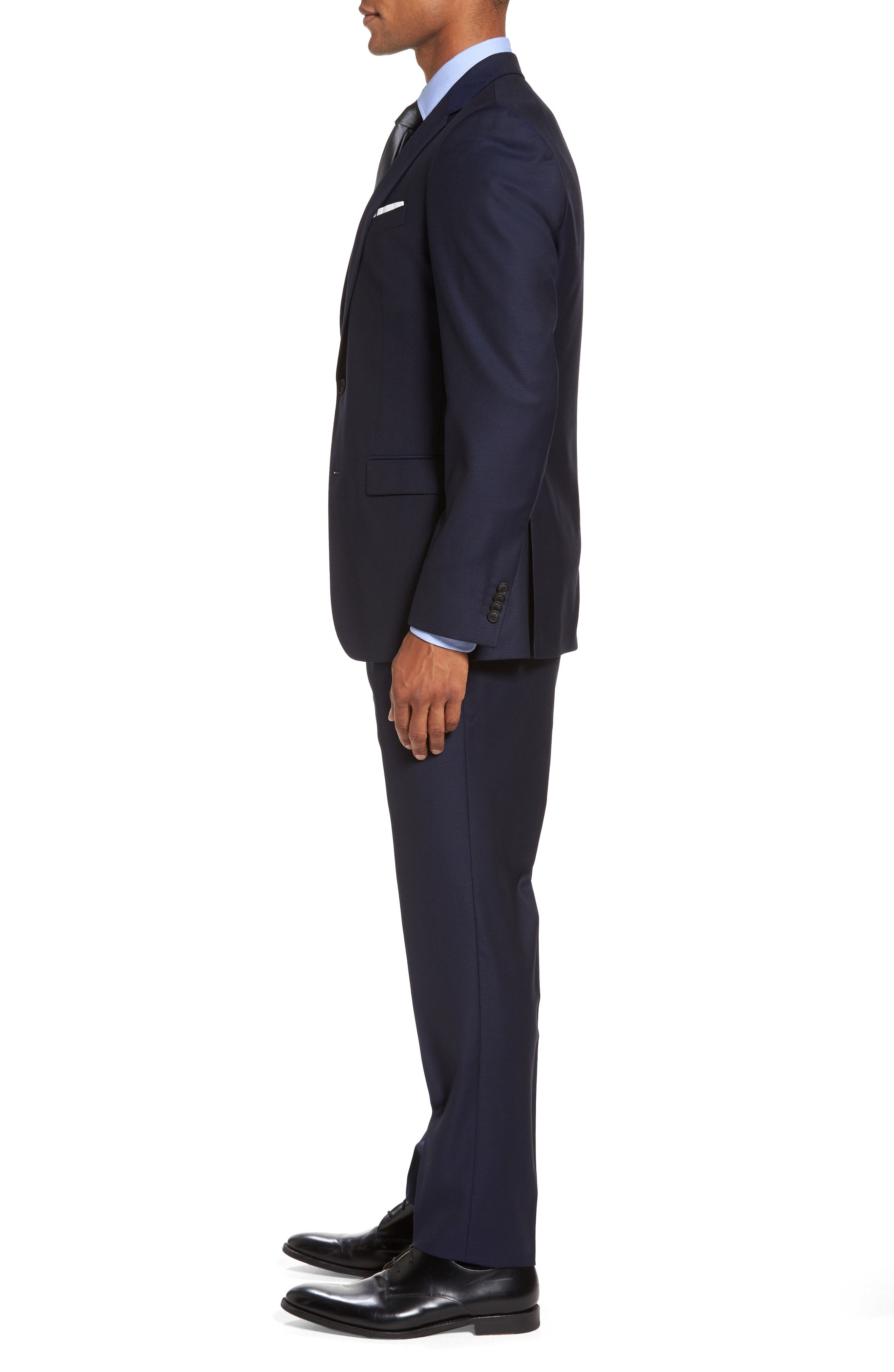Nestro/Byte Trim Fit Solid Wool Suit,                             Alternate thumbnail 3, color,                             410
