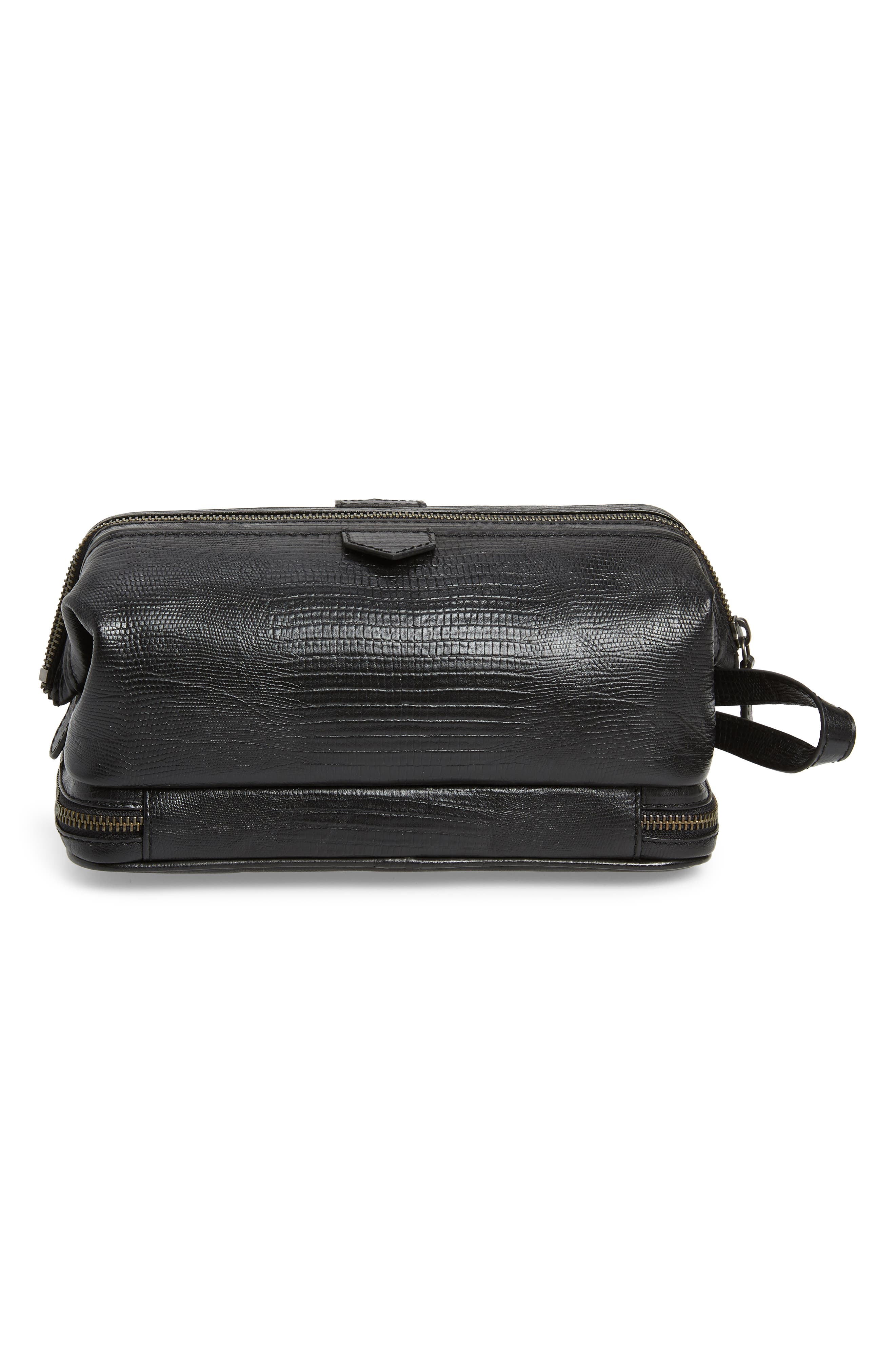 TED BAKER LONDON,                             Leather Travel Kit,                             Alternate thumbnail 2, color,                             BLACK