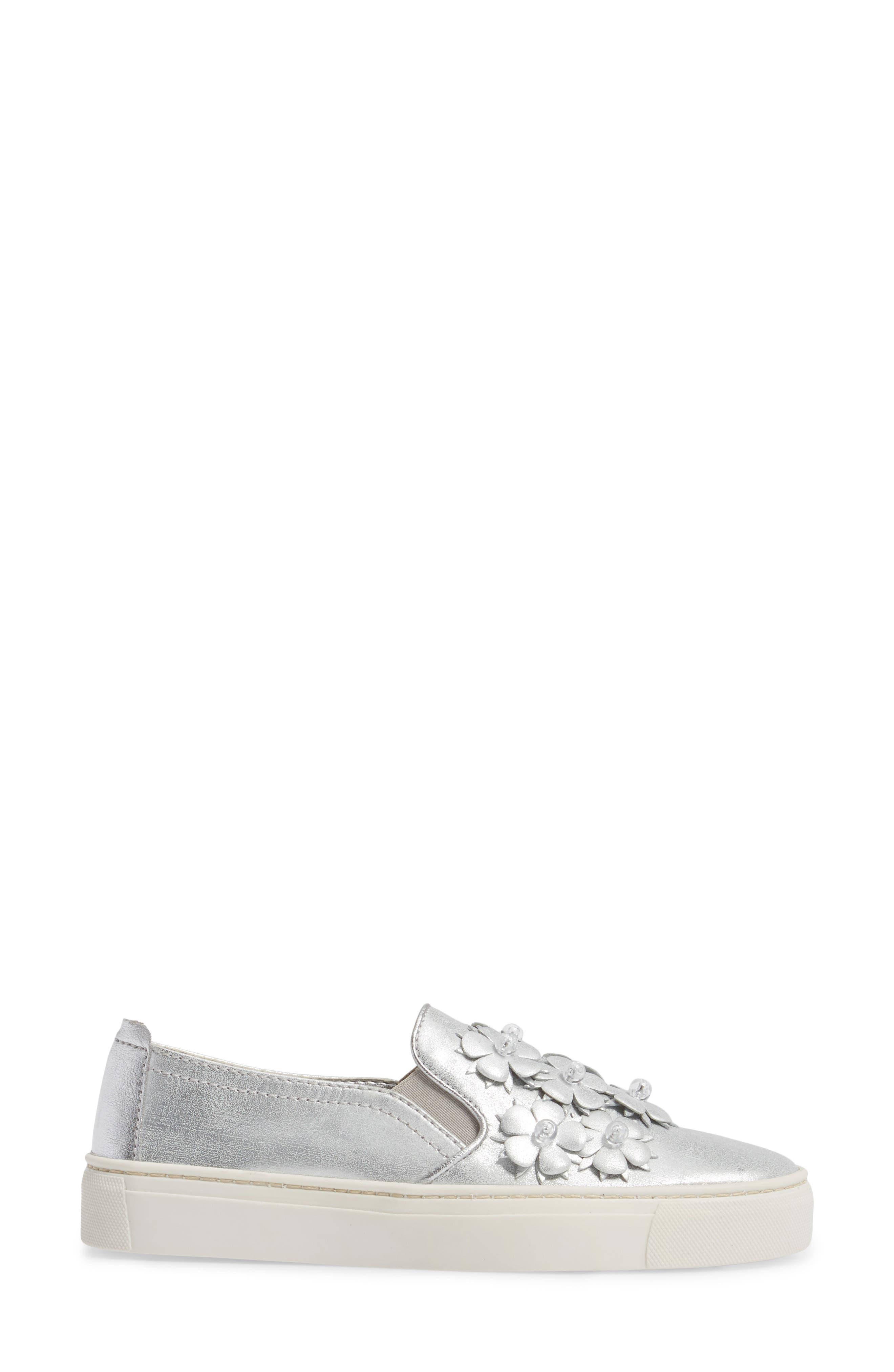 Sneak Blossom Slip-On Sneaker,                             Alternate thumbnail 3, color,                             020