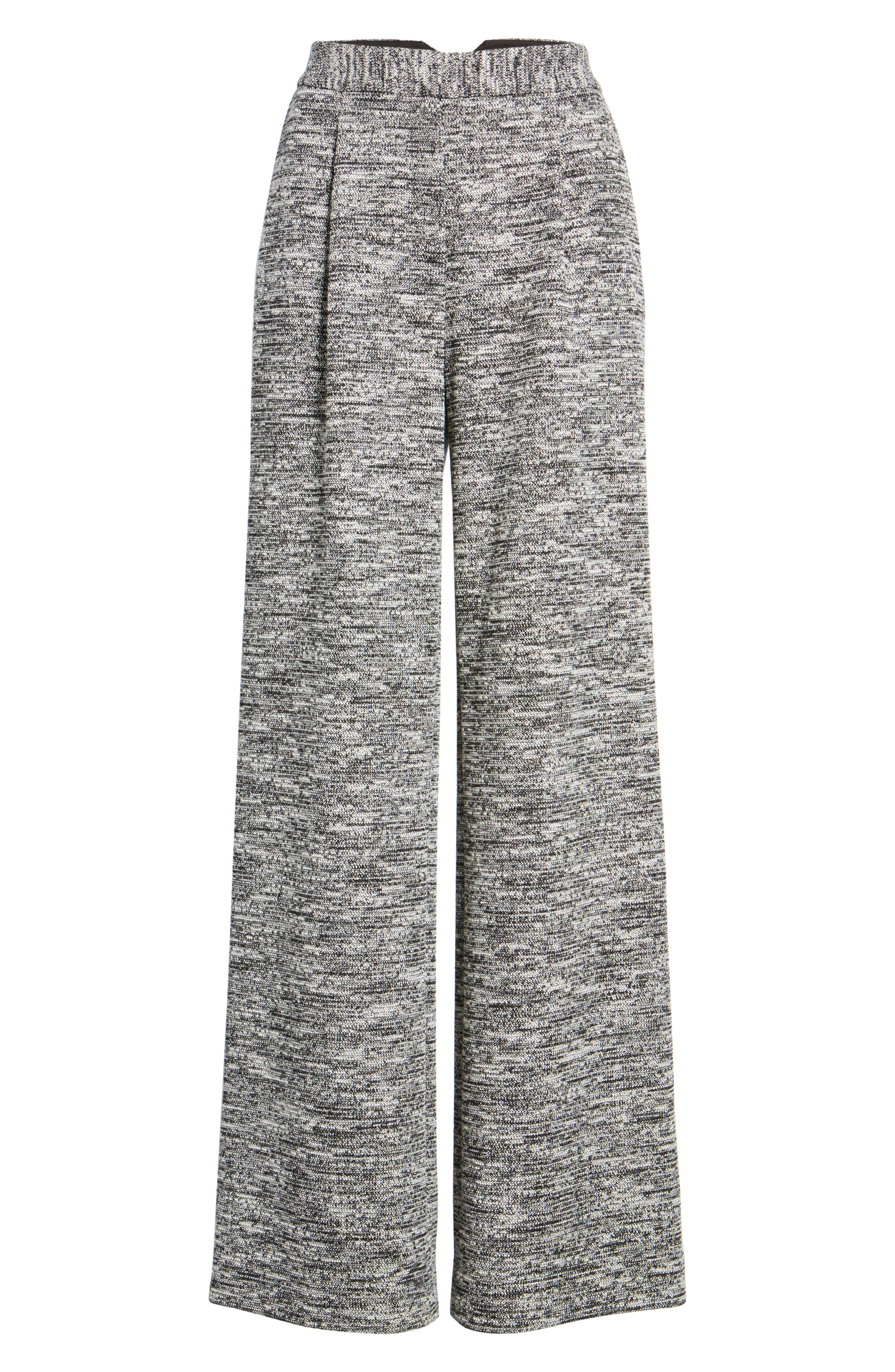 Wide Leg Tweed Pants,                             Alternate thumbnail 7, color,