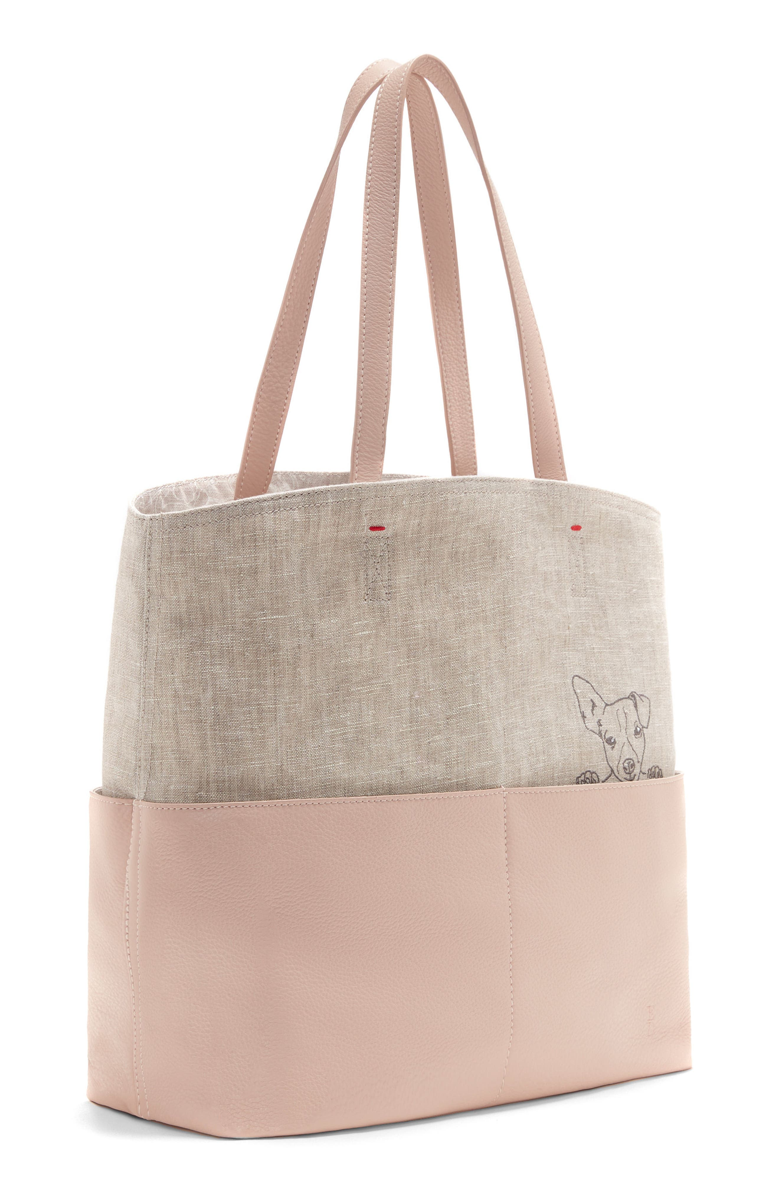Henlee Canvas & Leather Tote,                             Alternate thumbnail 4, color,                             650