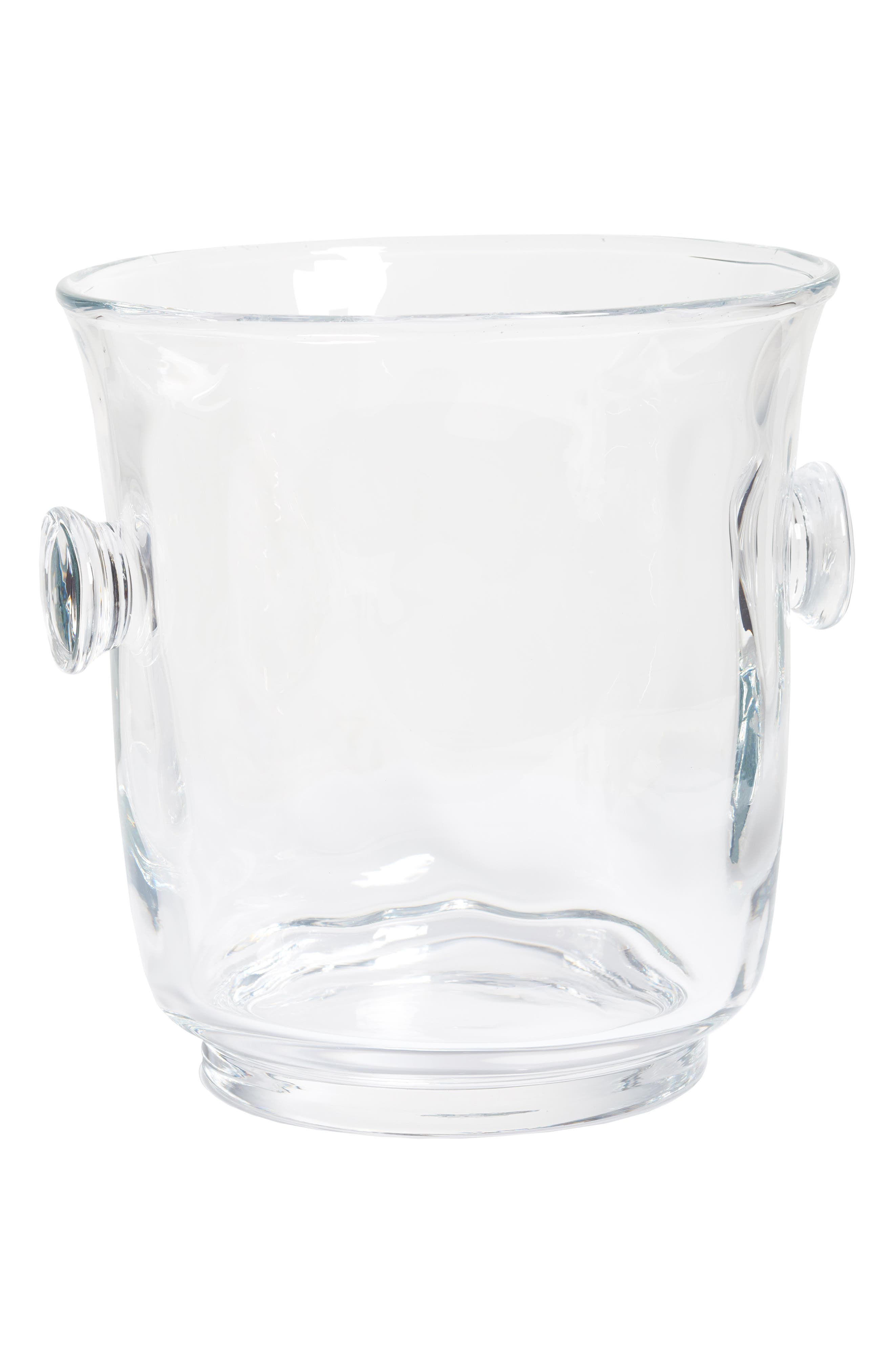 Carine Champagne Bucket,                             Main thumbnail 1, color,                             CLEAR