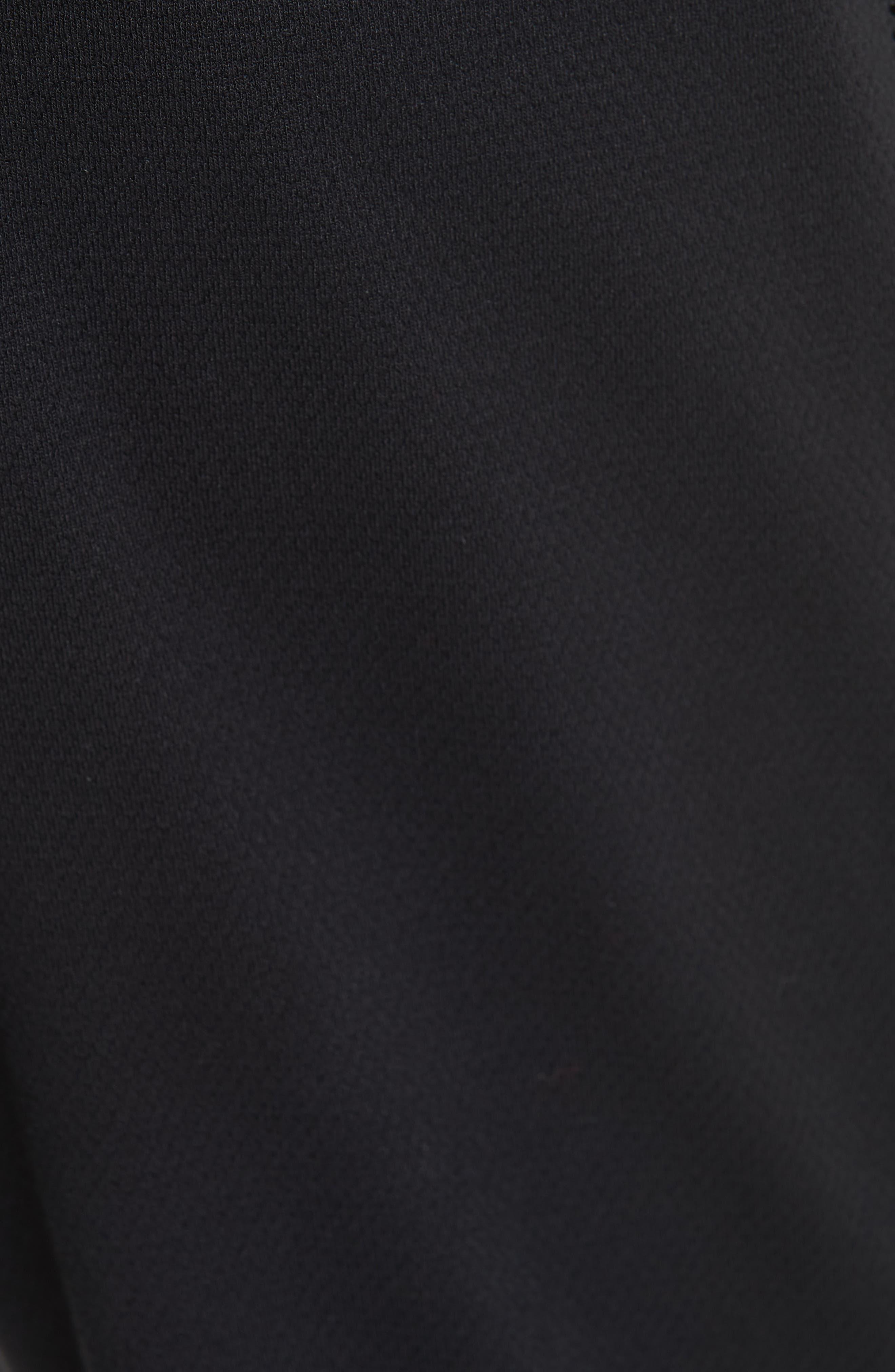 Stripe Jogger Pants,                             Alternate thumbnail 5, color,                             BLACK