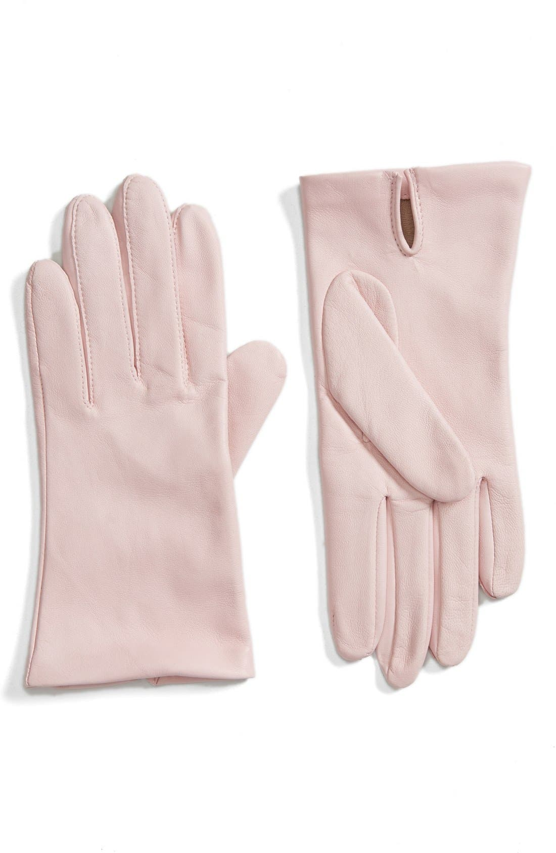 Short Leather Gloves,                             Main thumbnail 6, color,