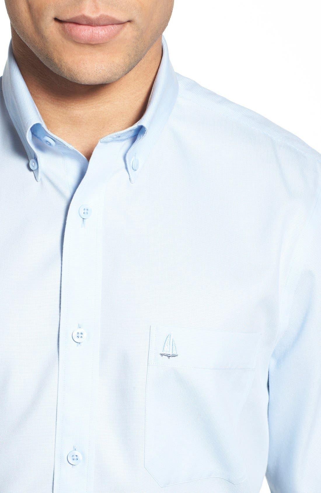 'Classic' Smartcare<sup>™</sup> Regular Fit Short Sleeve Cotton Sport Shirt,                             Alternate thumbnail 89, color,