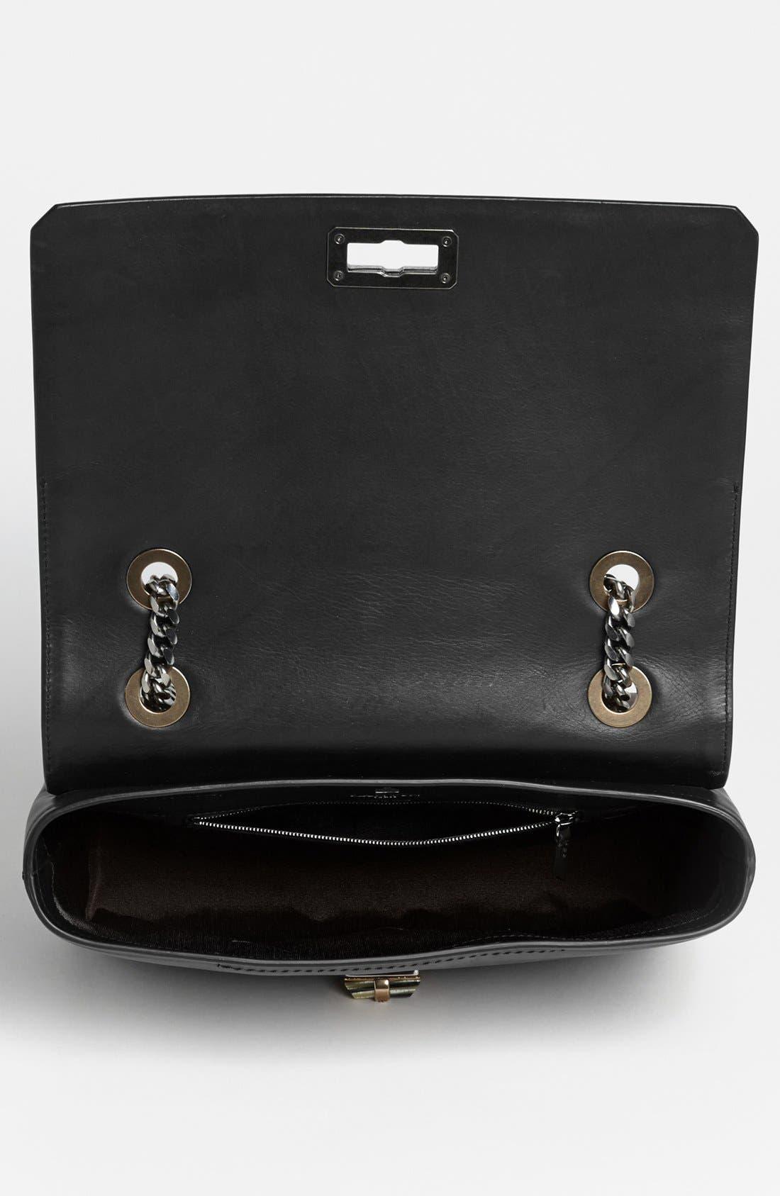 LANVIN,                             'Happy - Medium' Leather Flap Shoulder Bag,                             Alternate thumbnail 2, color,                             001