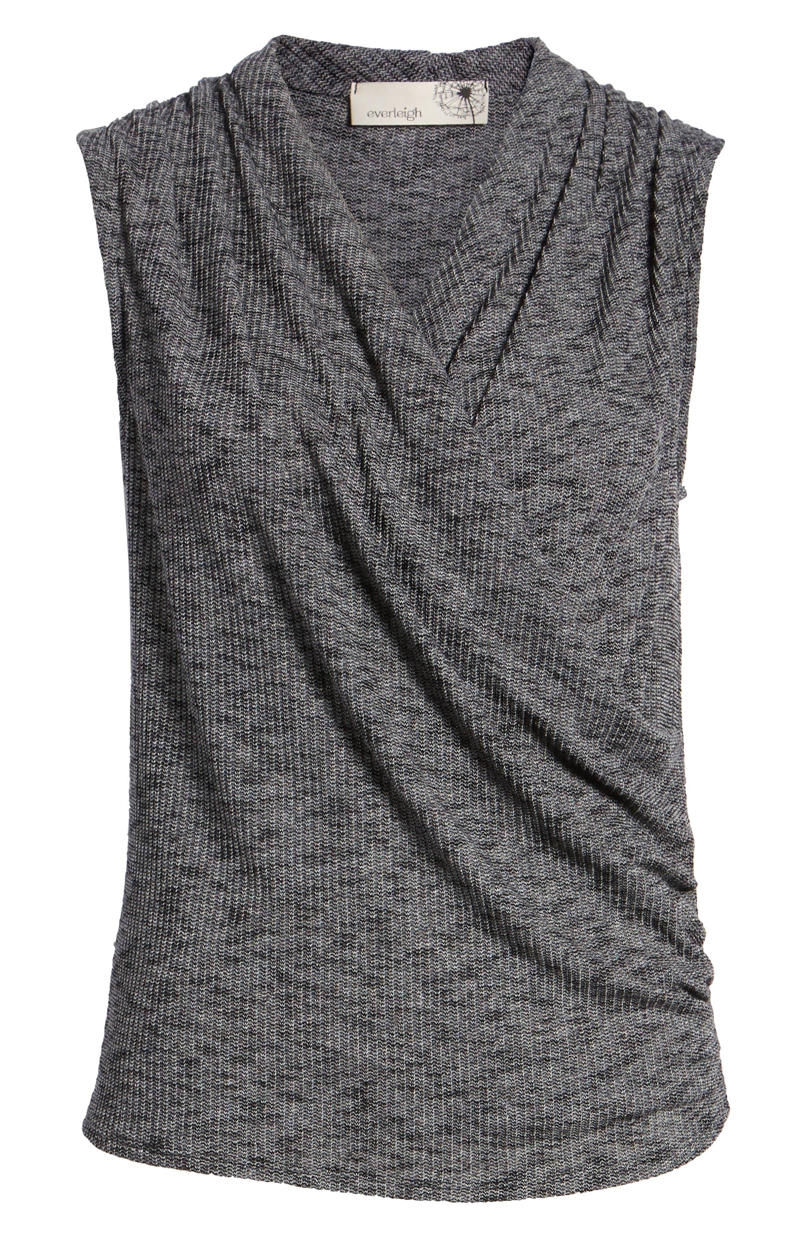 Surplus Knit Sleeveless Top,                             Alternate thumbnail 6, color,                             001