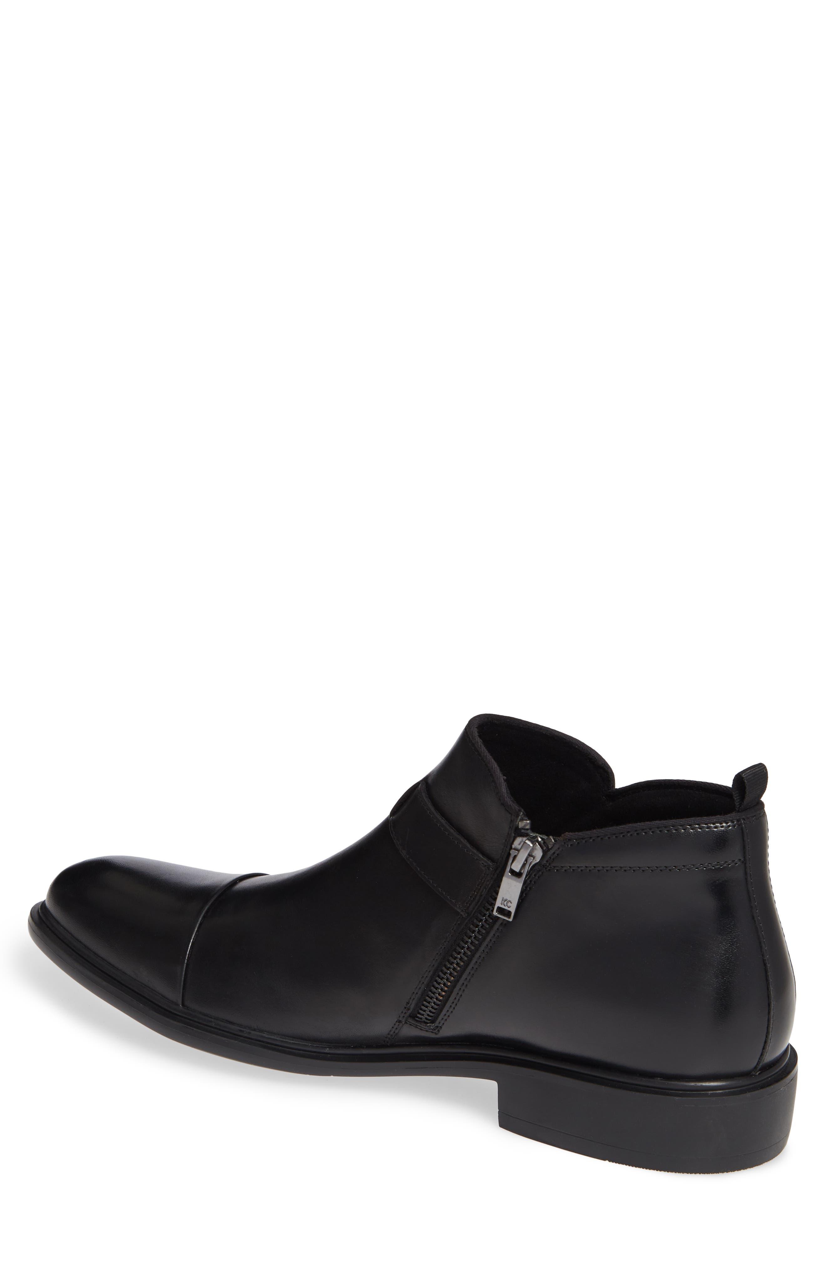 Garner Zip Boot,                             Alternate thumbnail 2, color,                             BLACK LEATHER