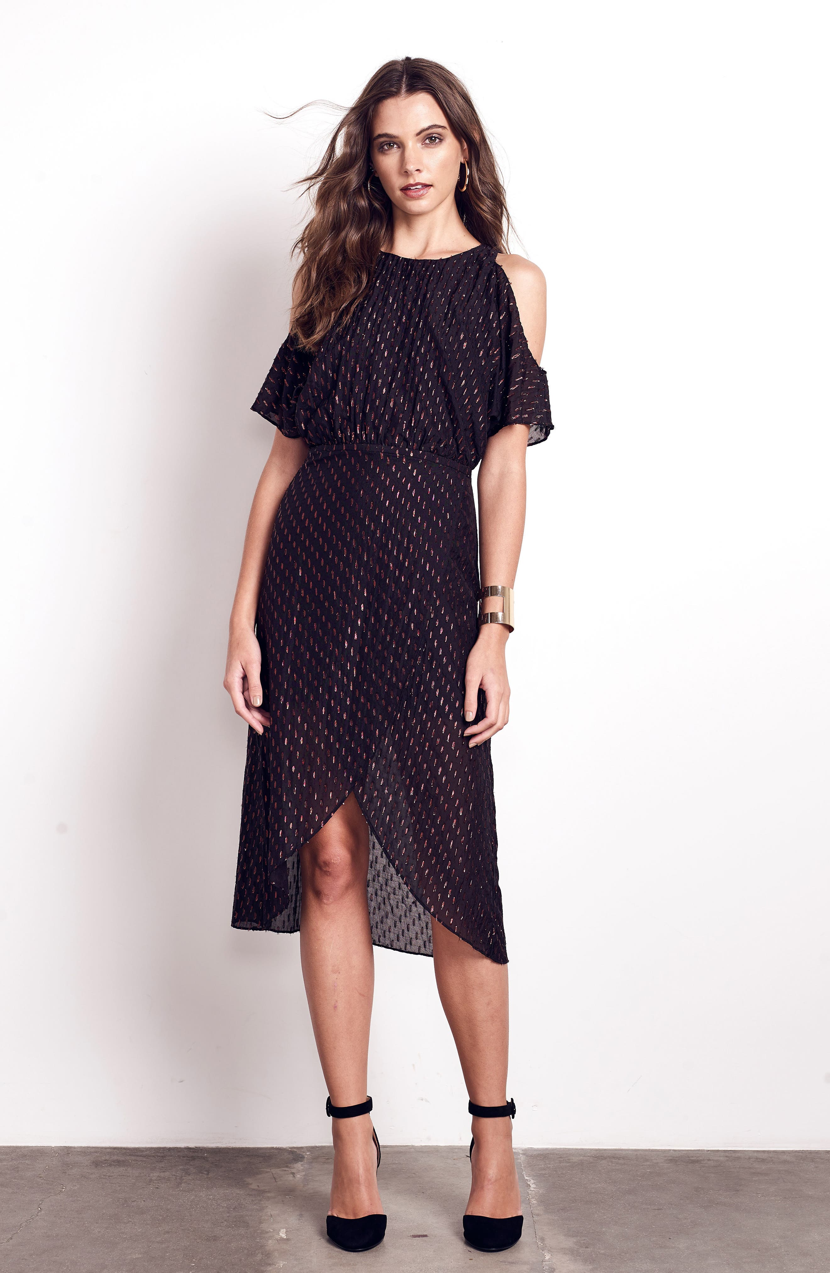 You Can't Handle All This Sparkle Cold Shoulder Dress,                             Alternate thumbnail 7, color,                             010