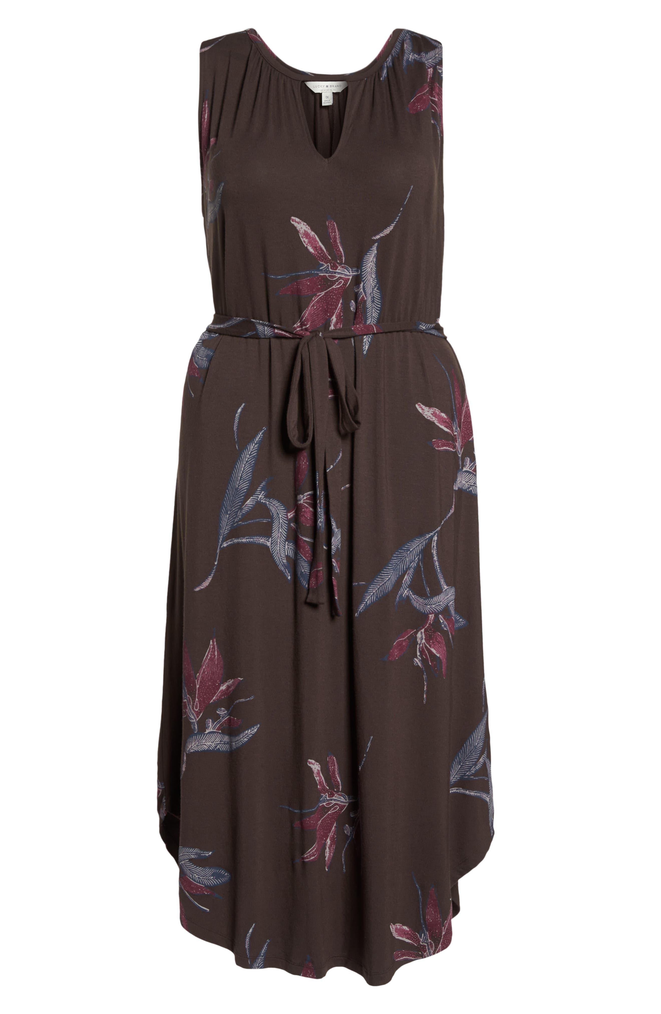Floral Halter Dress,                             Alternate thumbnail 7, color,                             MULTI