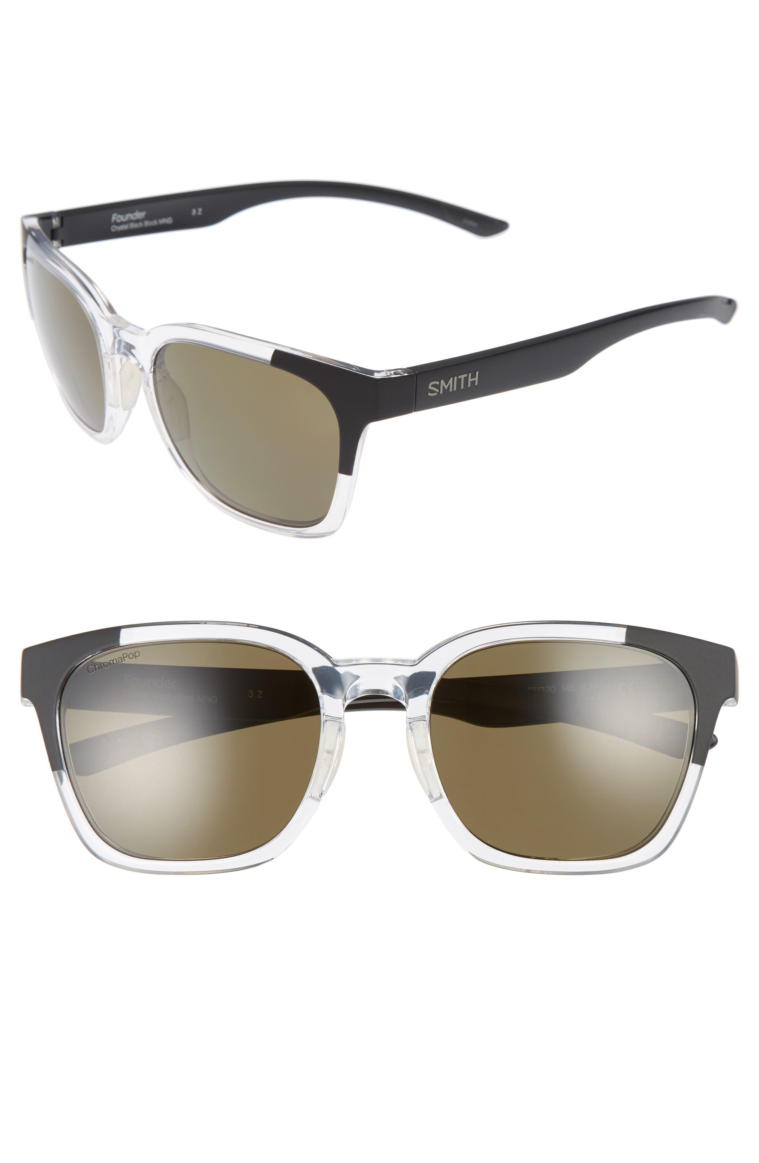 Founder 56mm ChromaPop Polarized Sunglasses,                             Main thumbnail 2, color,