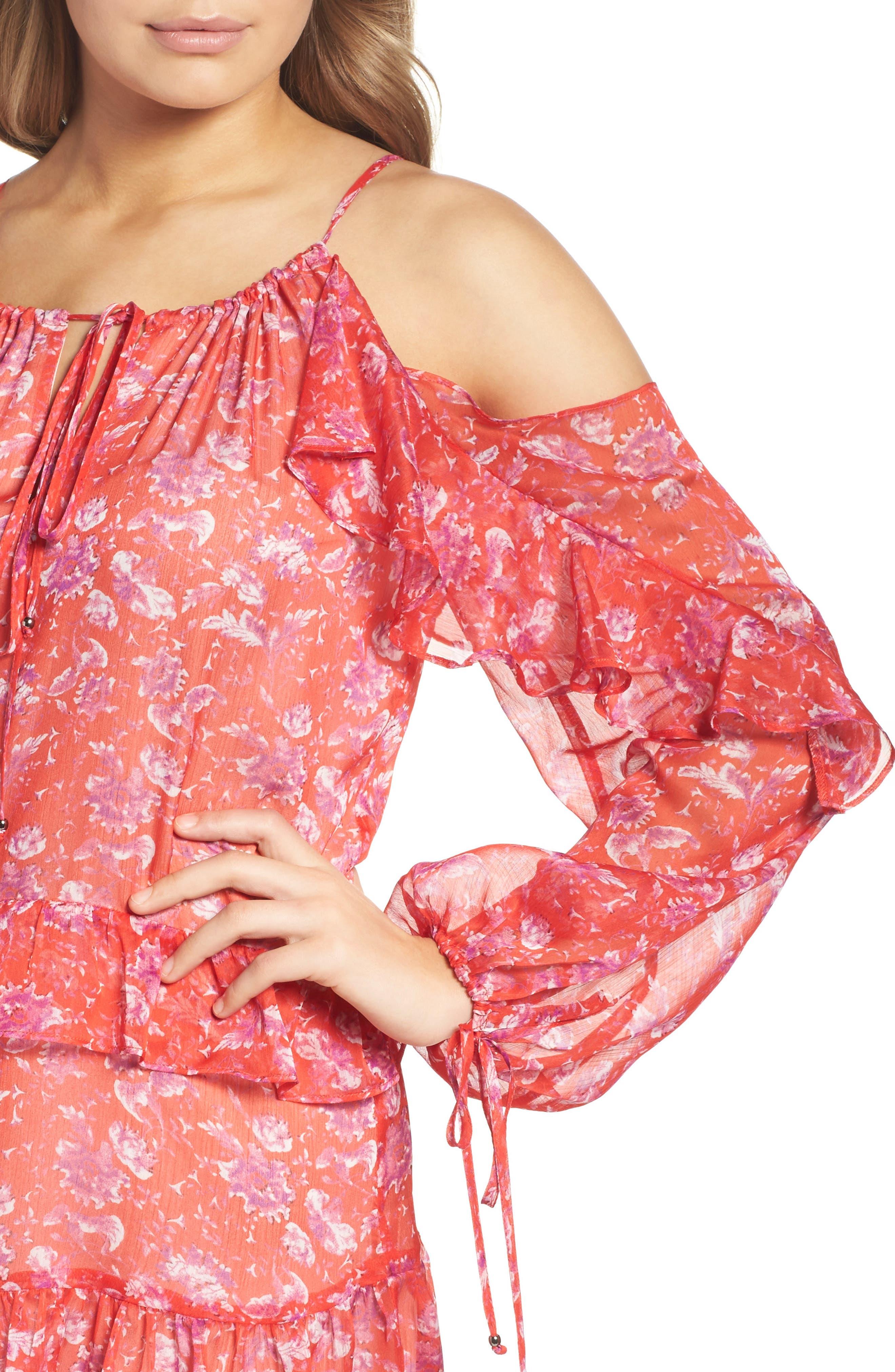 Cold Shoulder Dress,                             Alternate thumbnail 4, color,                             610