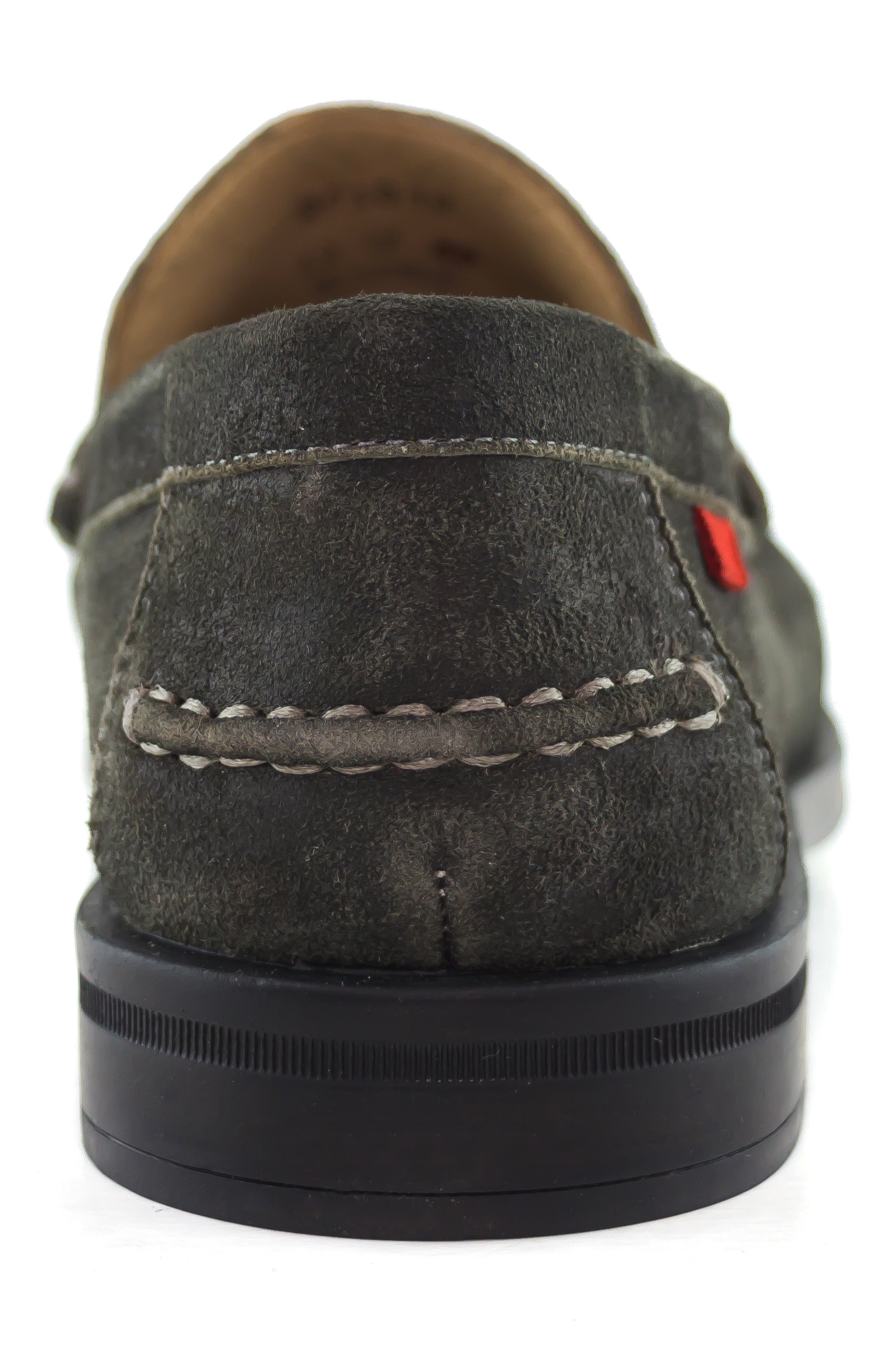 Cortland Penny Loafer,                             Alternate thumbnail 7, color,                             GRAPHITE LEATHER