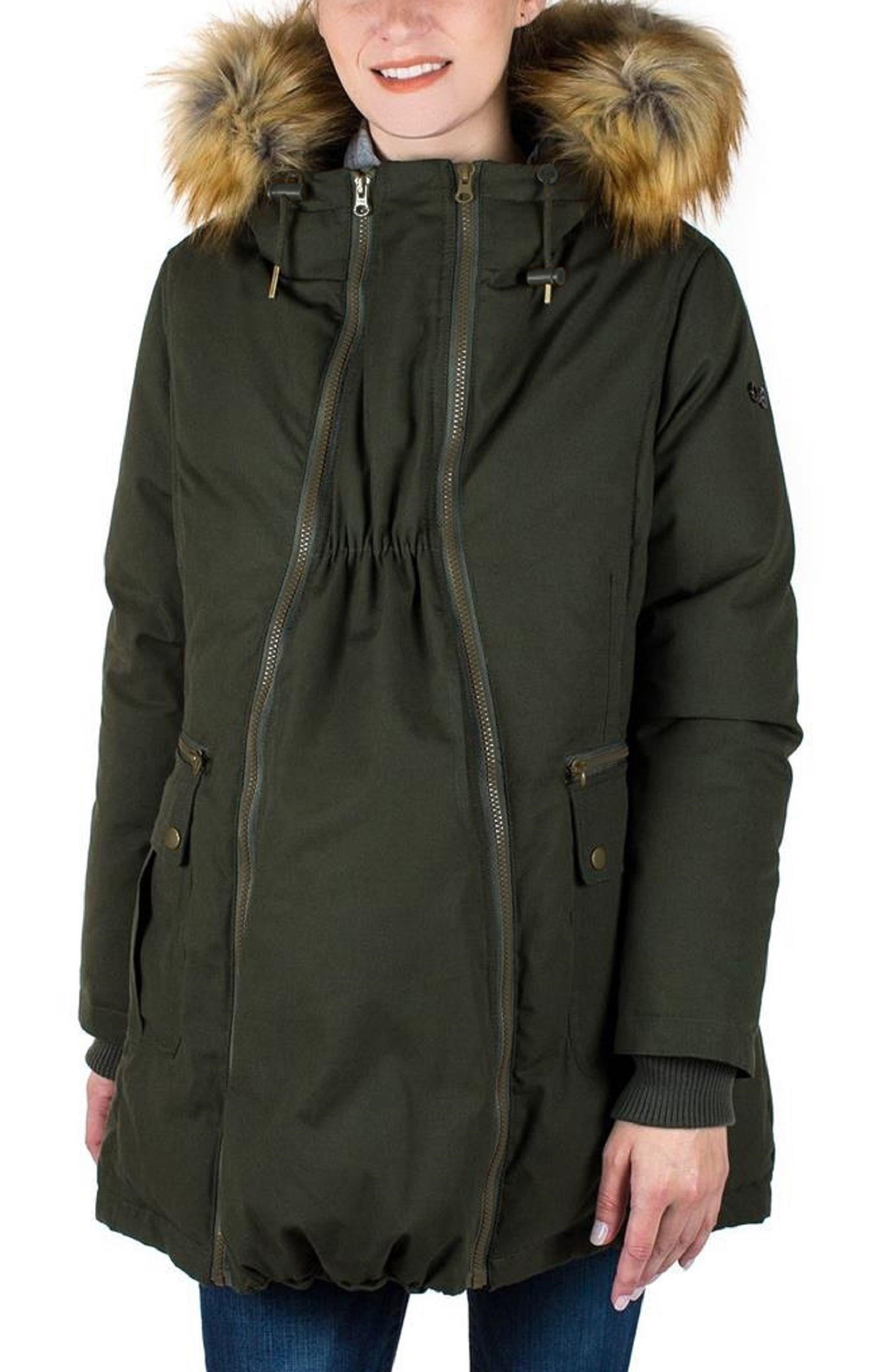 Convertible Down 3-in-1 Maternity Jacket,                         Main,                         color, KHAKI GREEN