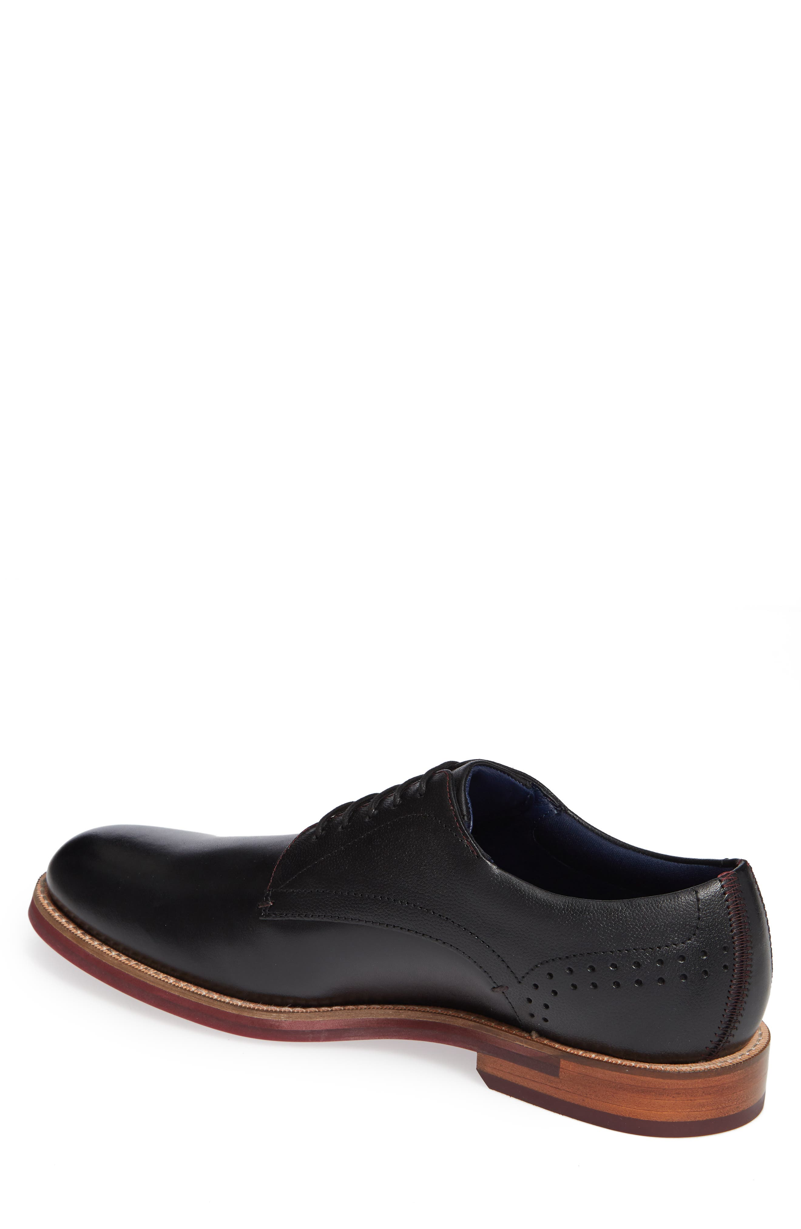 Jhorge Plain Toe Derby,                             Alternate thumbnail 2, color,                             BLACK LEATHER