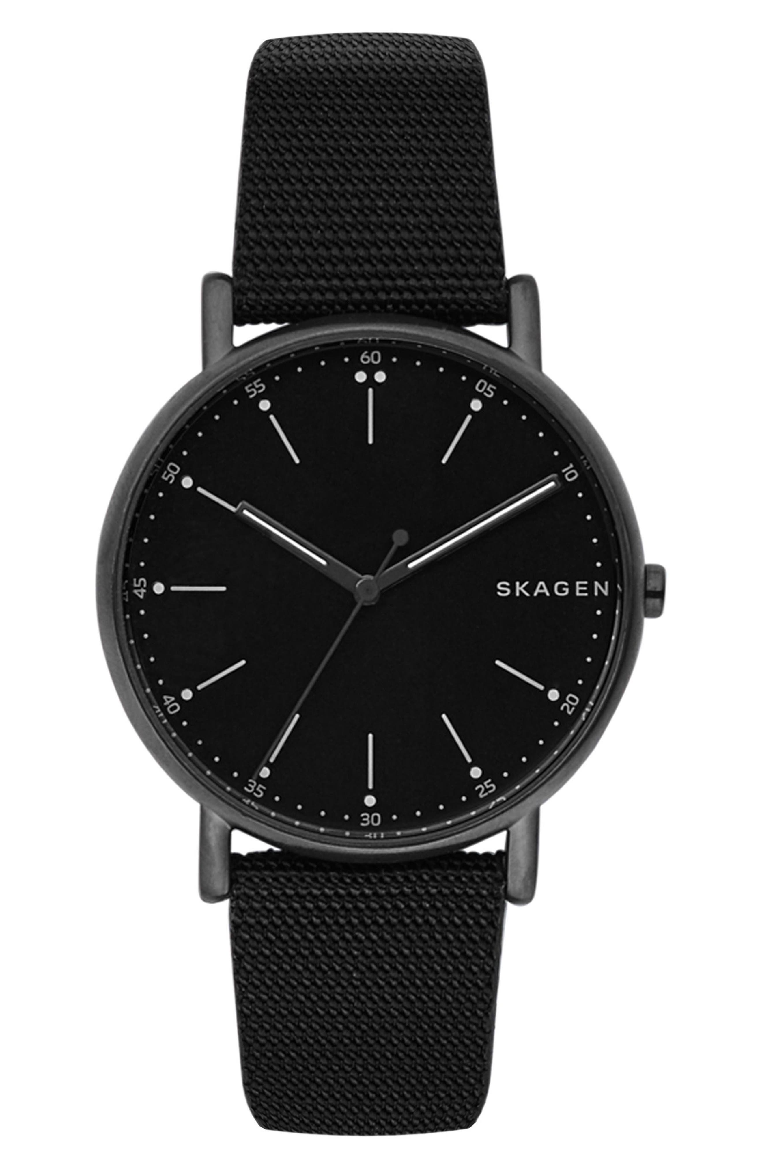 Signatur Nylon Strap Watch, 40mm,                         Main,                         color, 001
