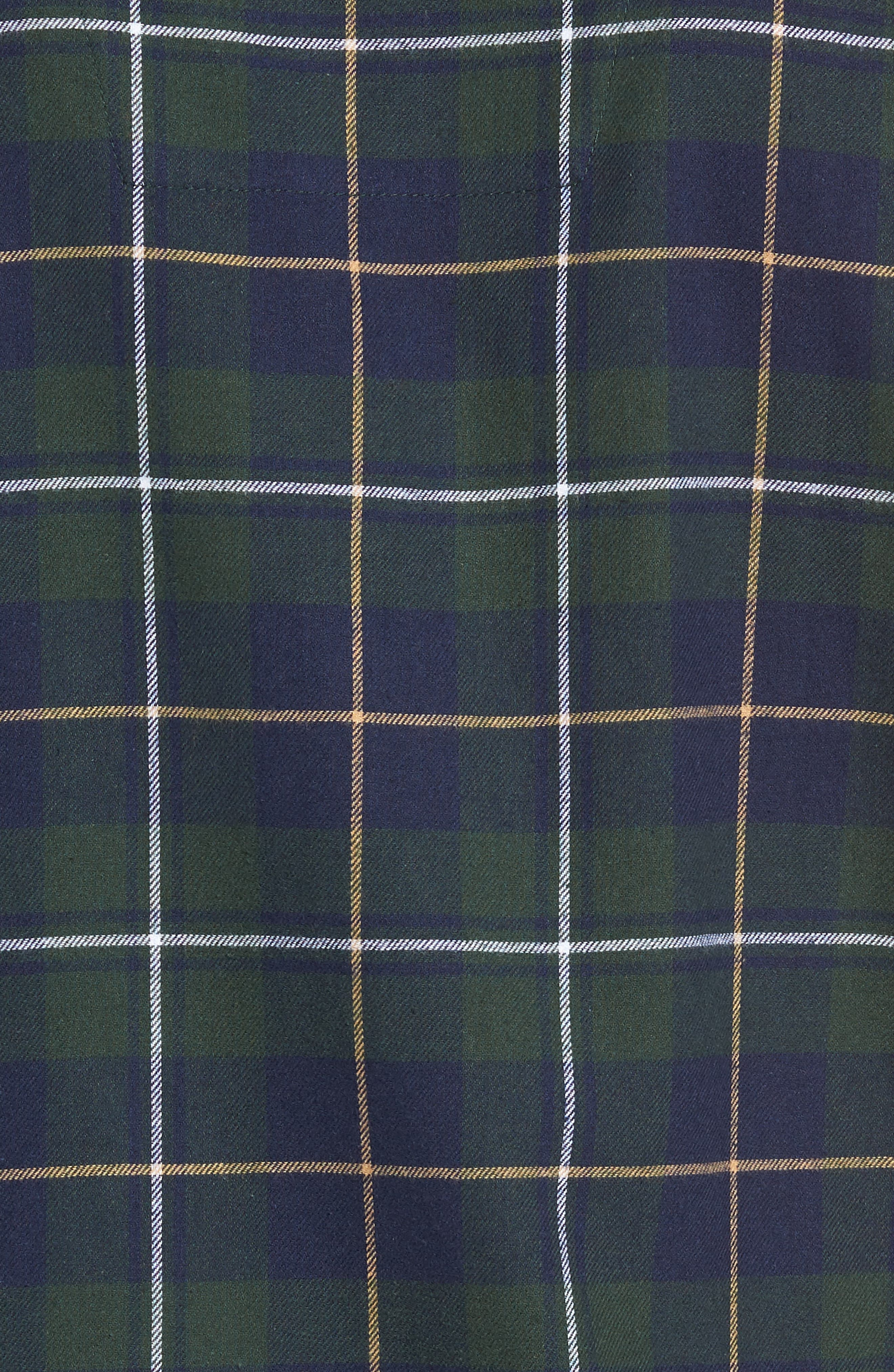 '824' Flannel Pajama Set,                             Alternate thumbnail 5, color,                             GREEN CHARCOAL FADED PLAID