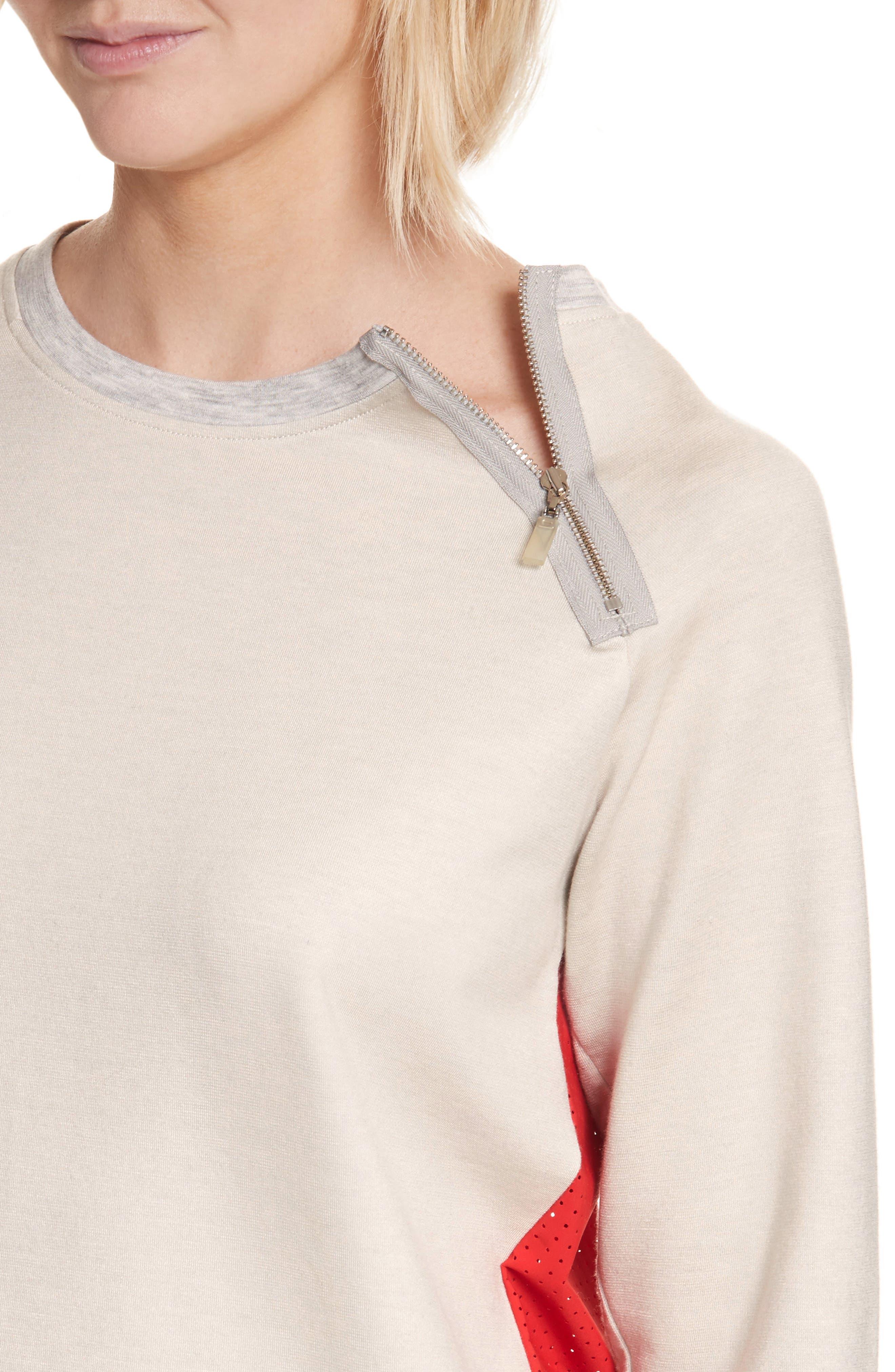 Zip Combo Sweatshirt,                             Alternate thumbnail 4, color,
