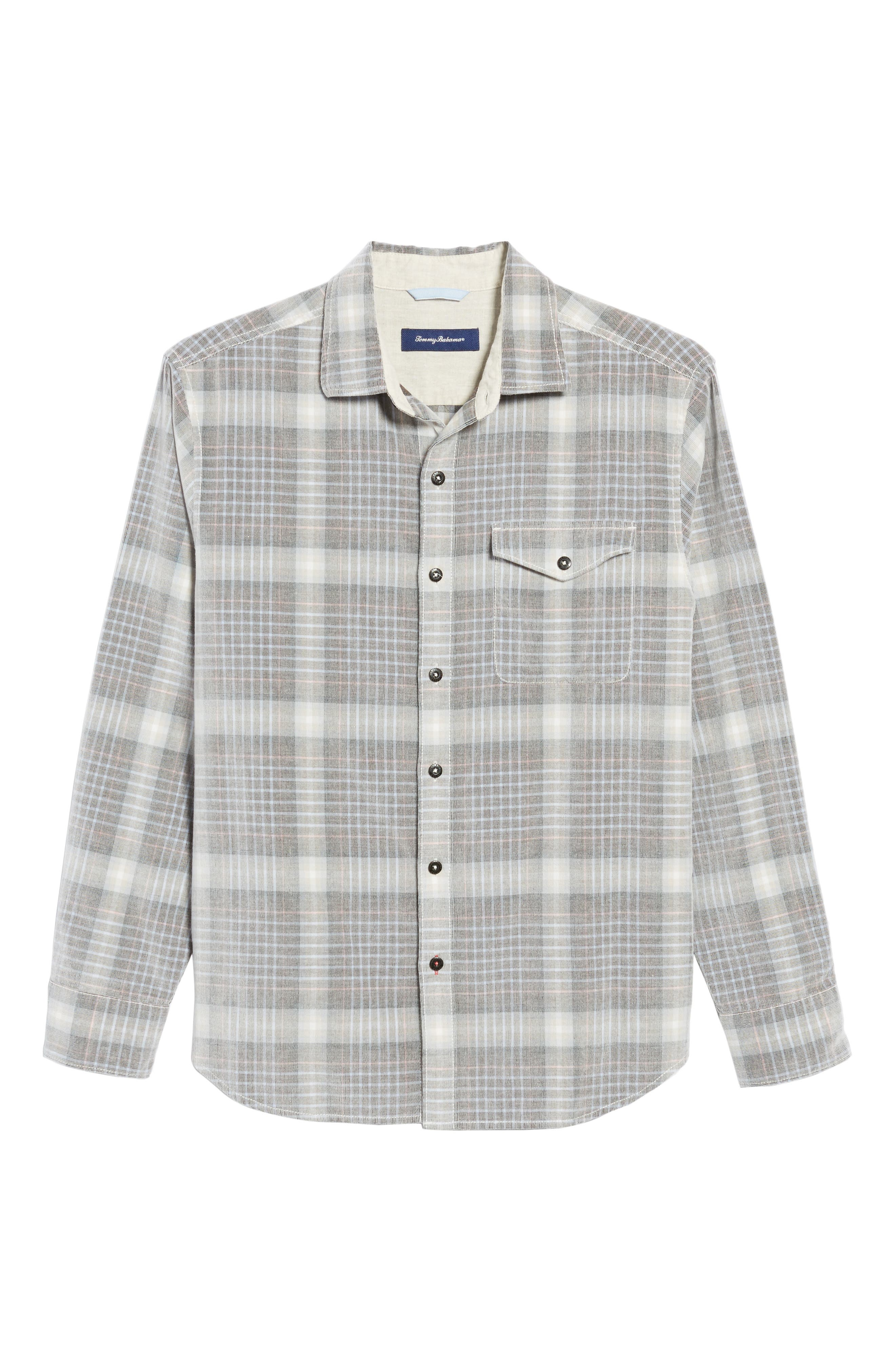 Standard Fit Plaid Sport Shirt,                             Alternate thumbnail 6, color,                             200