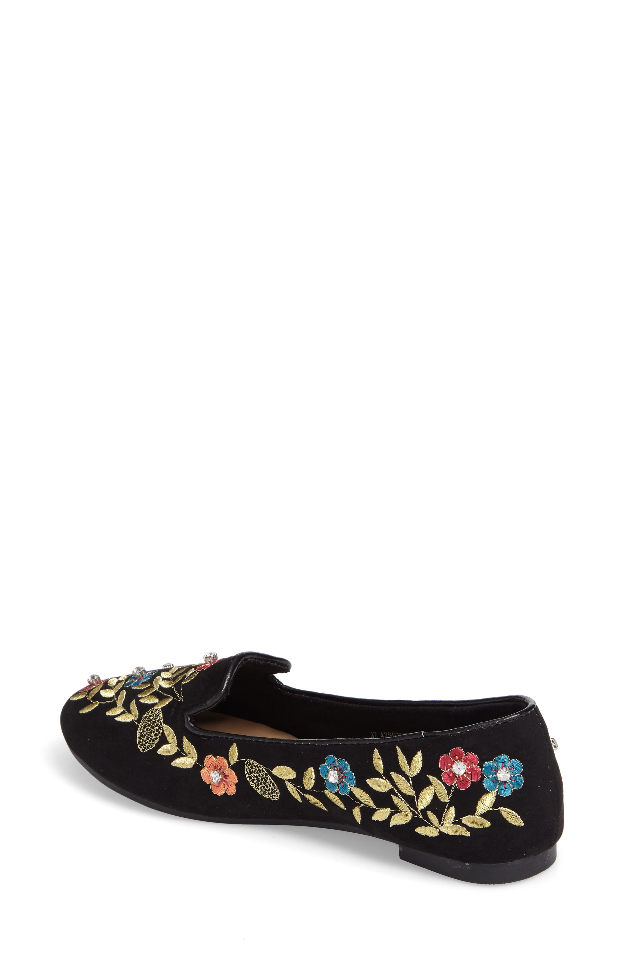 Sweetie Embroidered Loafer,                             Alternate thumbnail 2, color,                             001