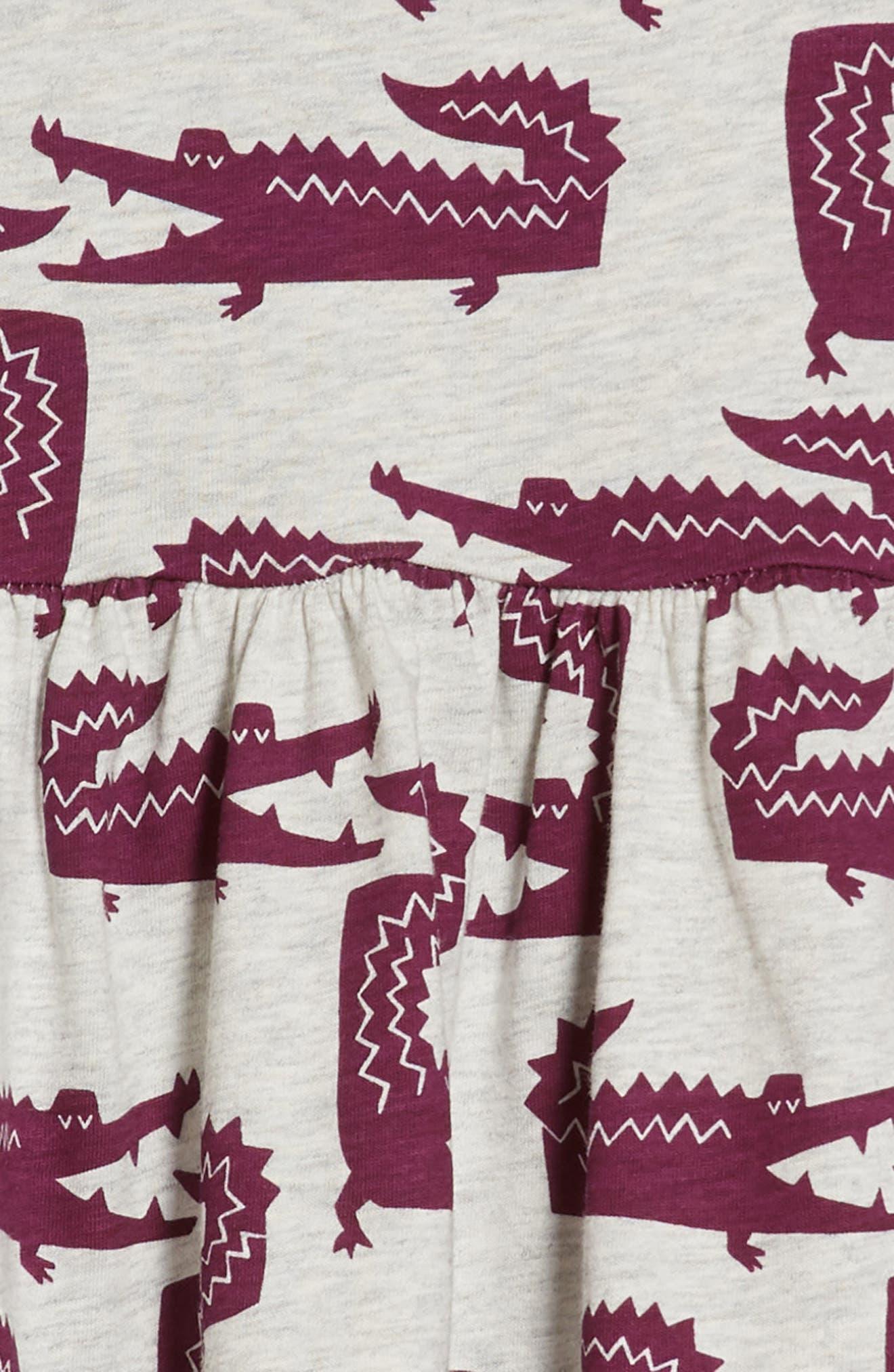 Print Dress,                             Alternate thumbnail 3, color,                             100