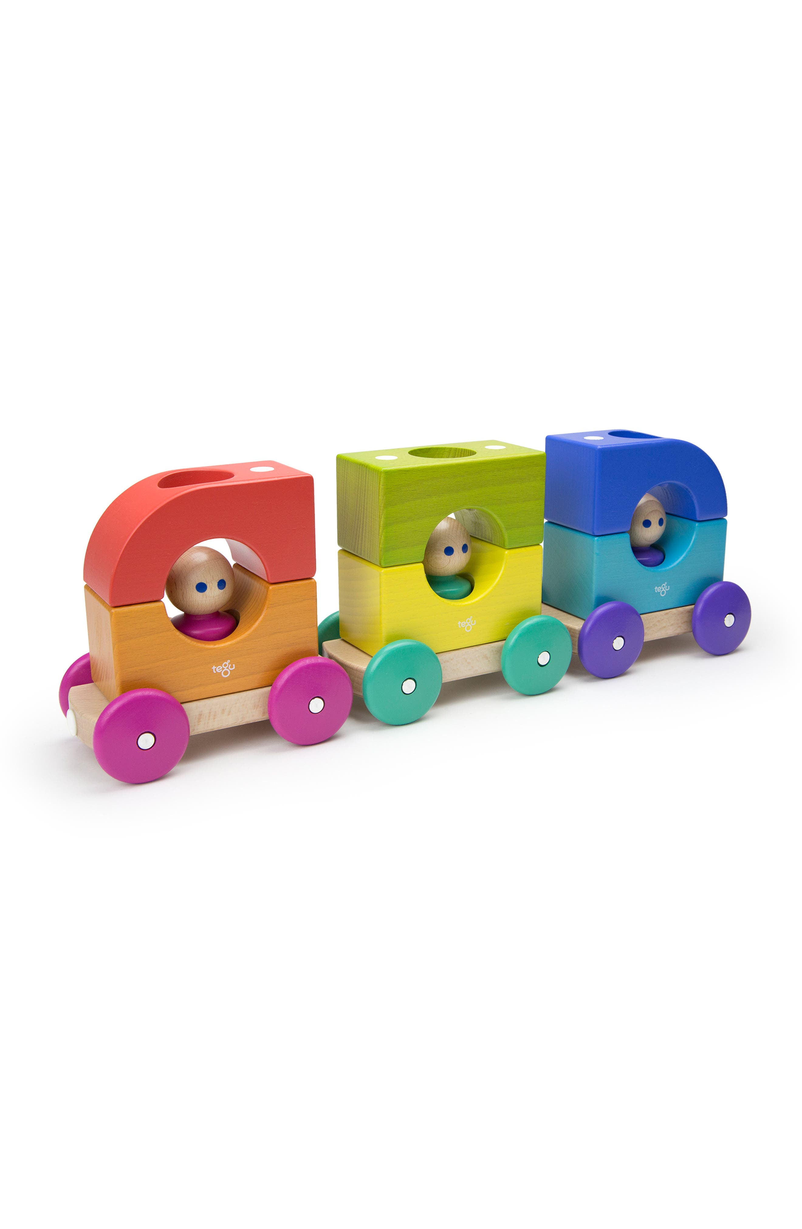 Rainbow Magnetic Tram Set,                             Main thumbnail 1, color,                             RAINBOW