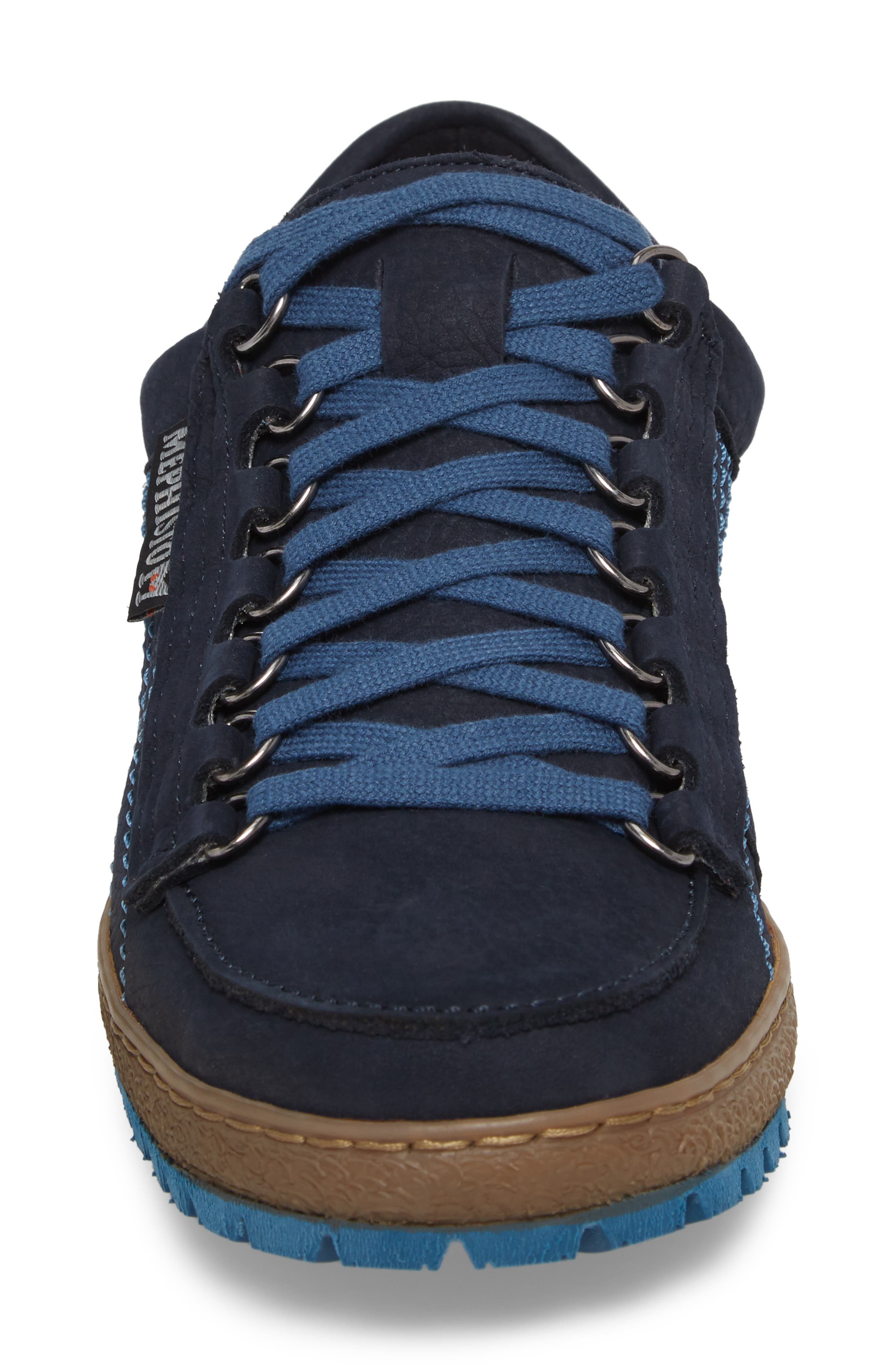 Rainbow Sneaker,                             Alternate thumbnail 4, color,                             NAVY BLUE SUEDE