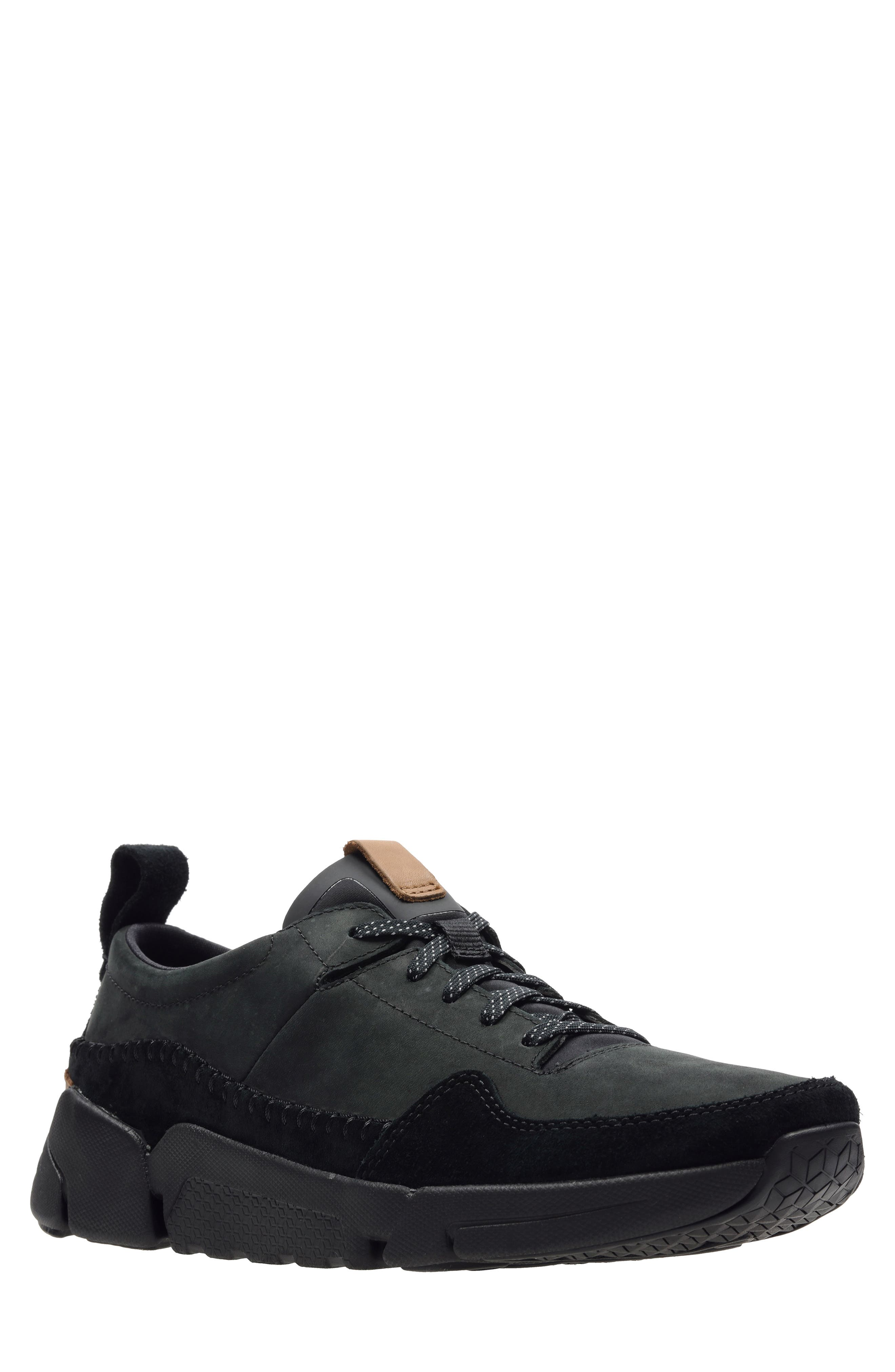 Tri-Active Run Sneaker, Main, color, BLACK LEATHER