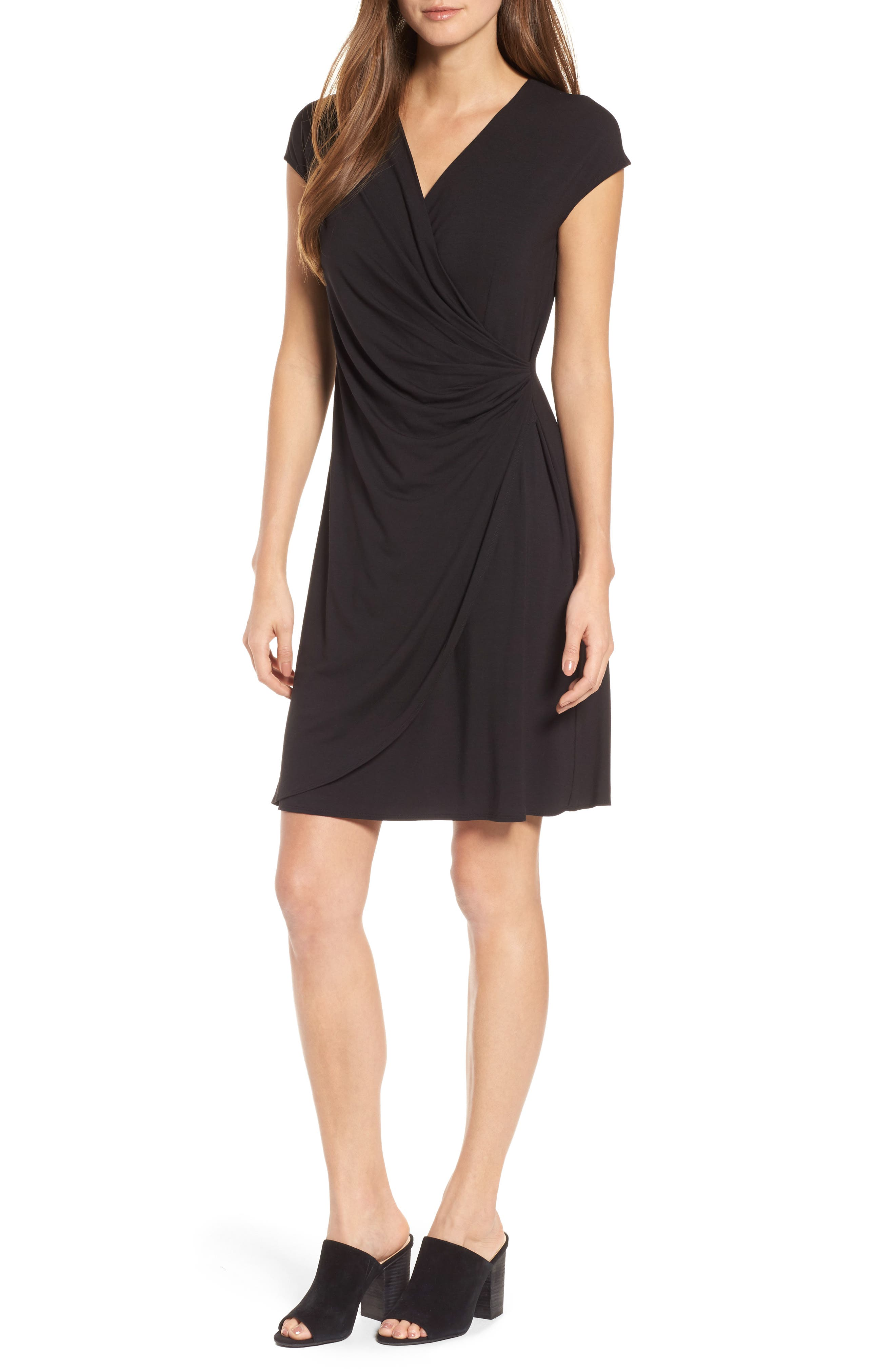 'Tambour' Side Gathered Dress,                             Alternate thumbnail 9, color,