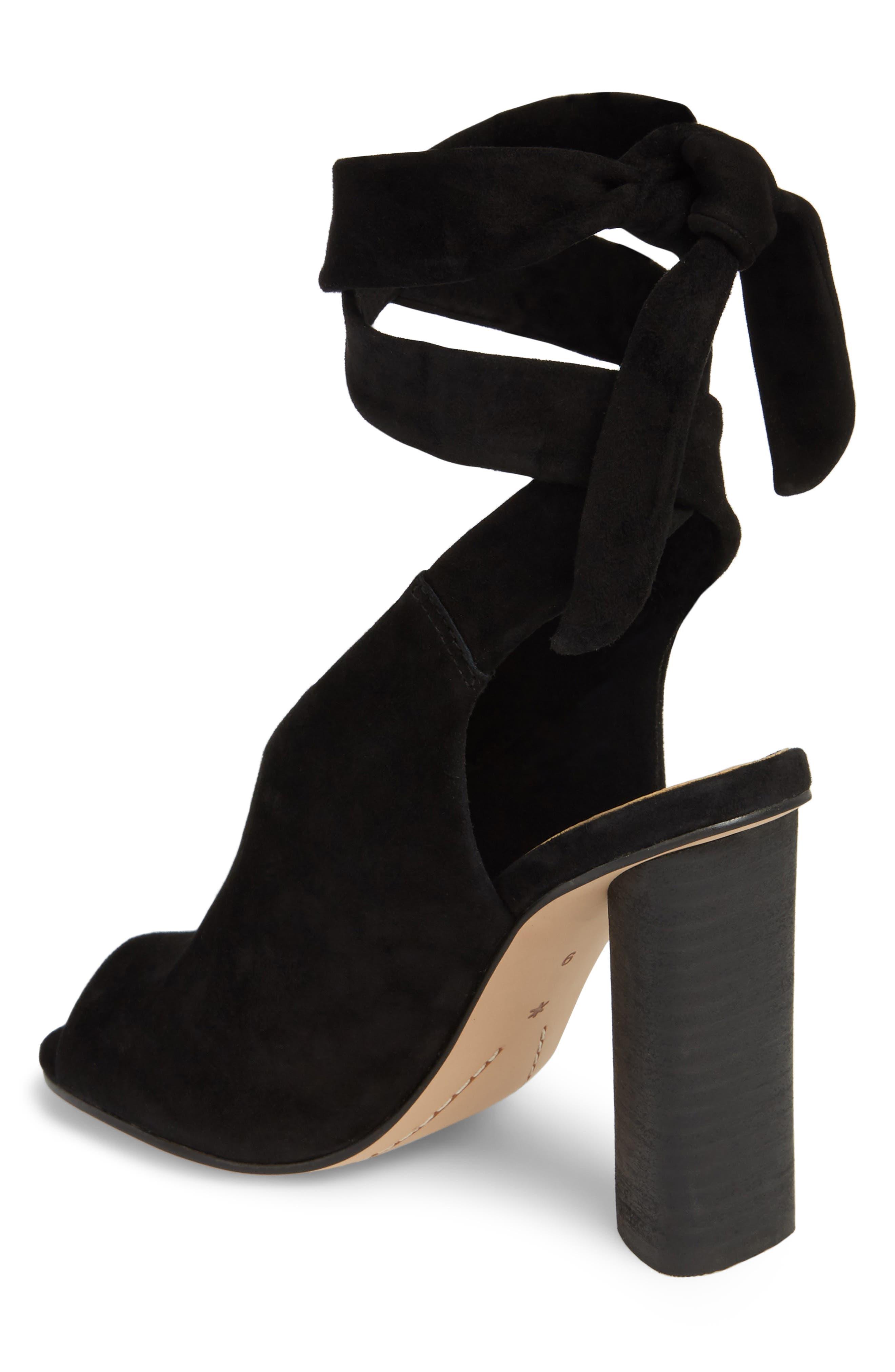Navarro Ankle Wrap Sandal,                             Alternate thumbnail 2, color,                             BLACK SUEDE