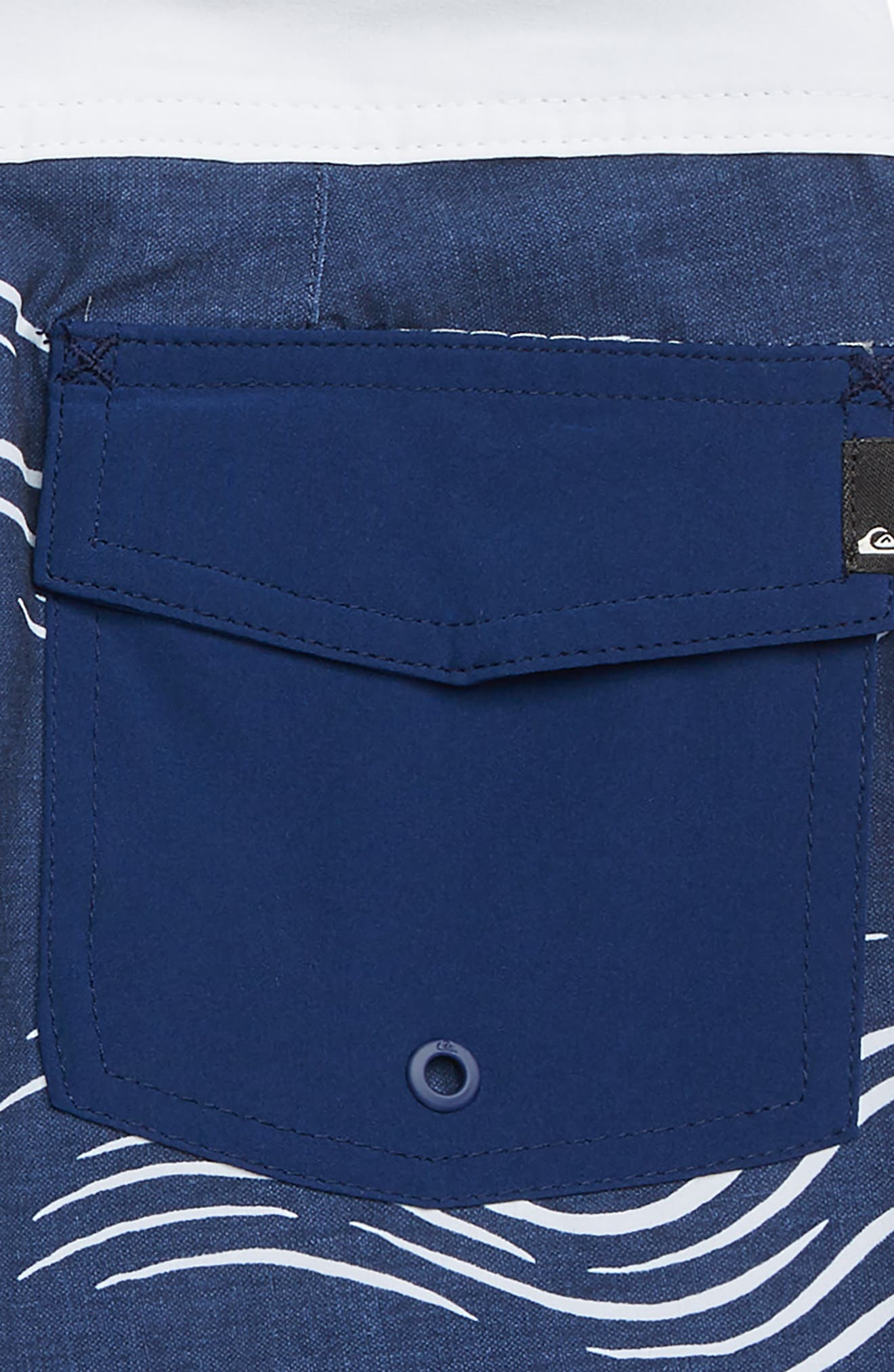 Highline Zen Scallop Board Shorts,                             Alternate thumbnail 3, color,                             MEDIEVEL BLUE