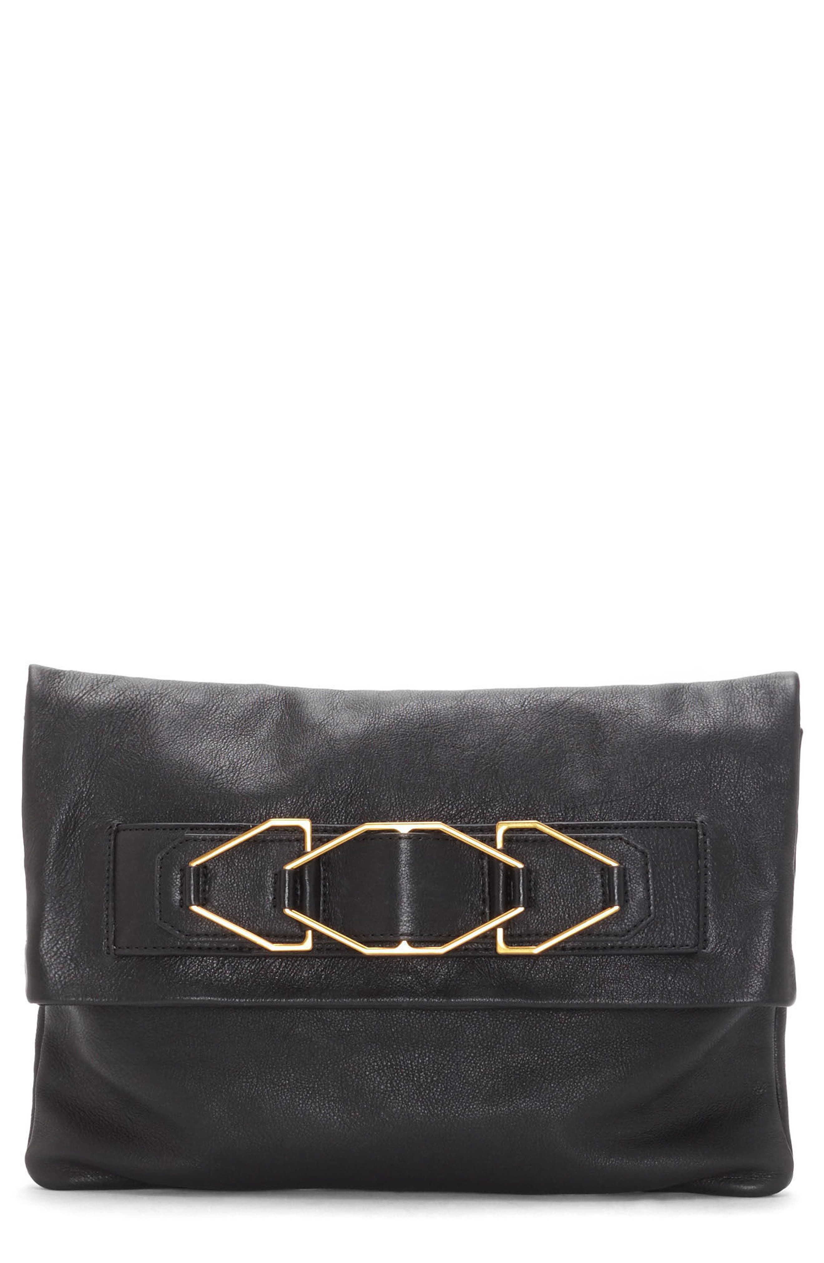 Luk Leather Foldover Clutch,                             Main thumbnail 1, color,