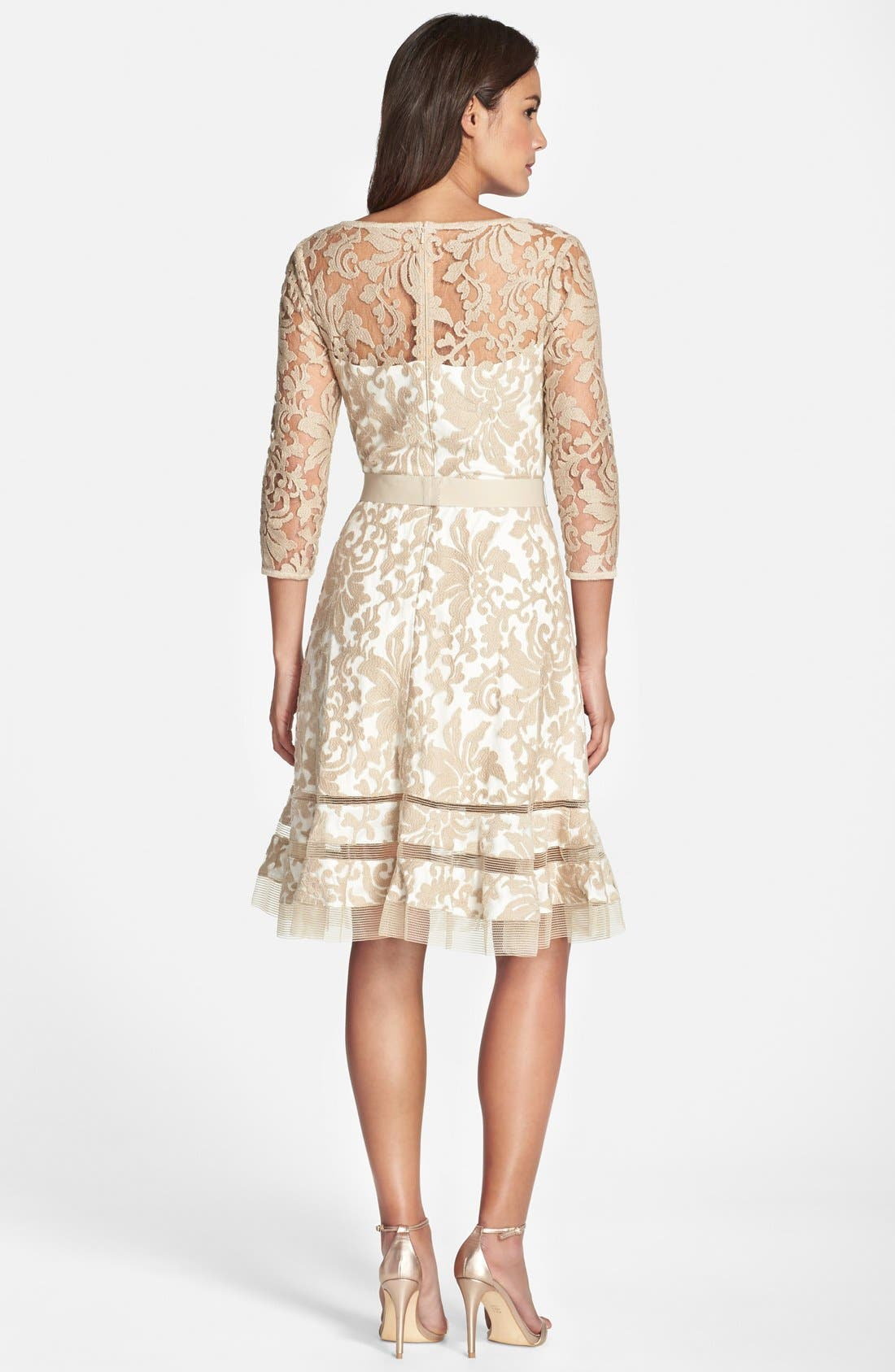 Lace Overlay Dress,                             Alternate thumbnail 14, color,