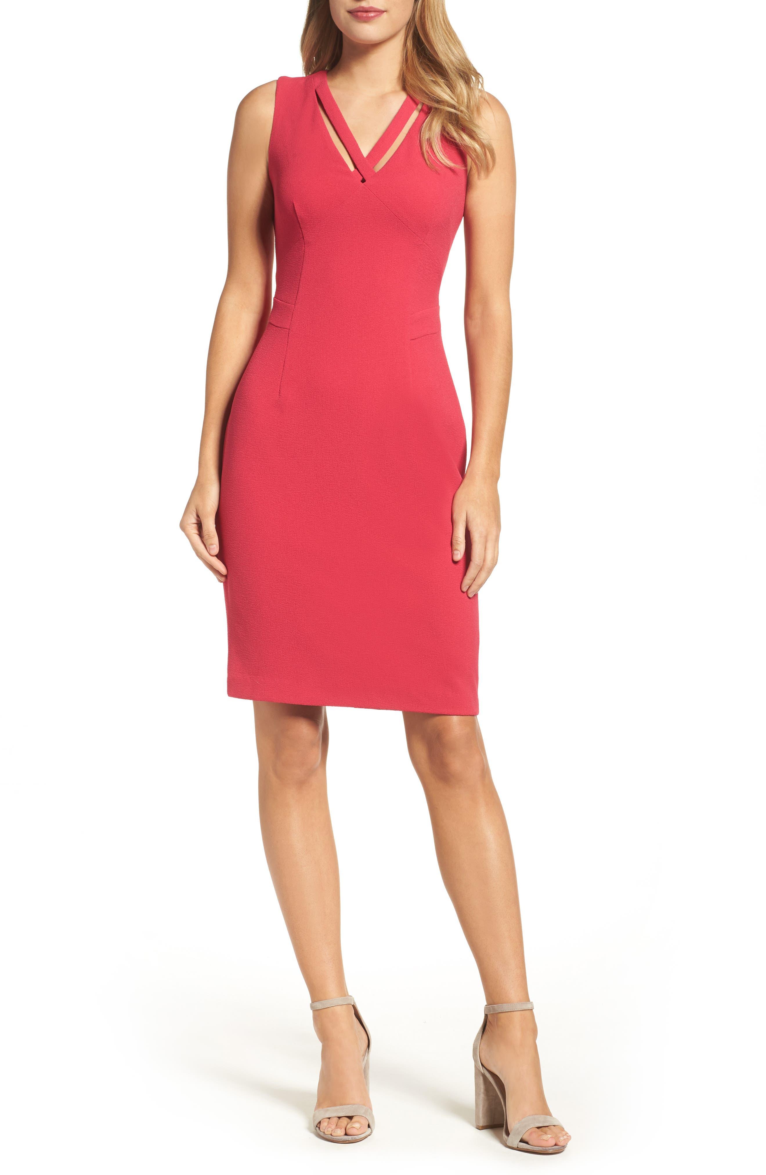 Seamed Sheath Dress,                             Alternate thumbnail 5, color,