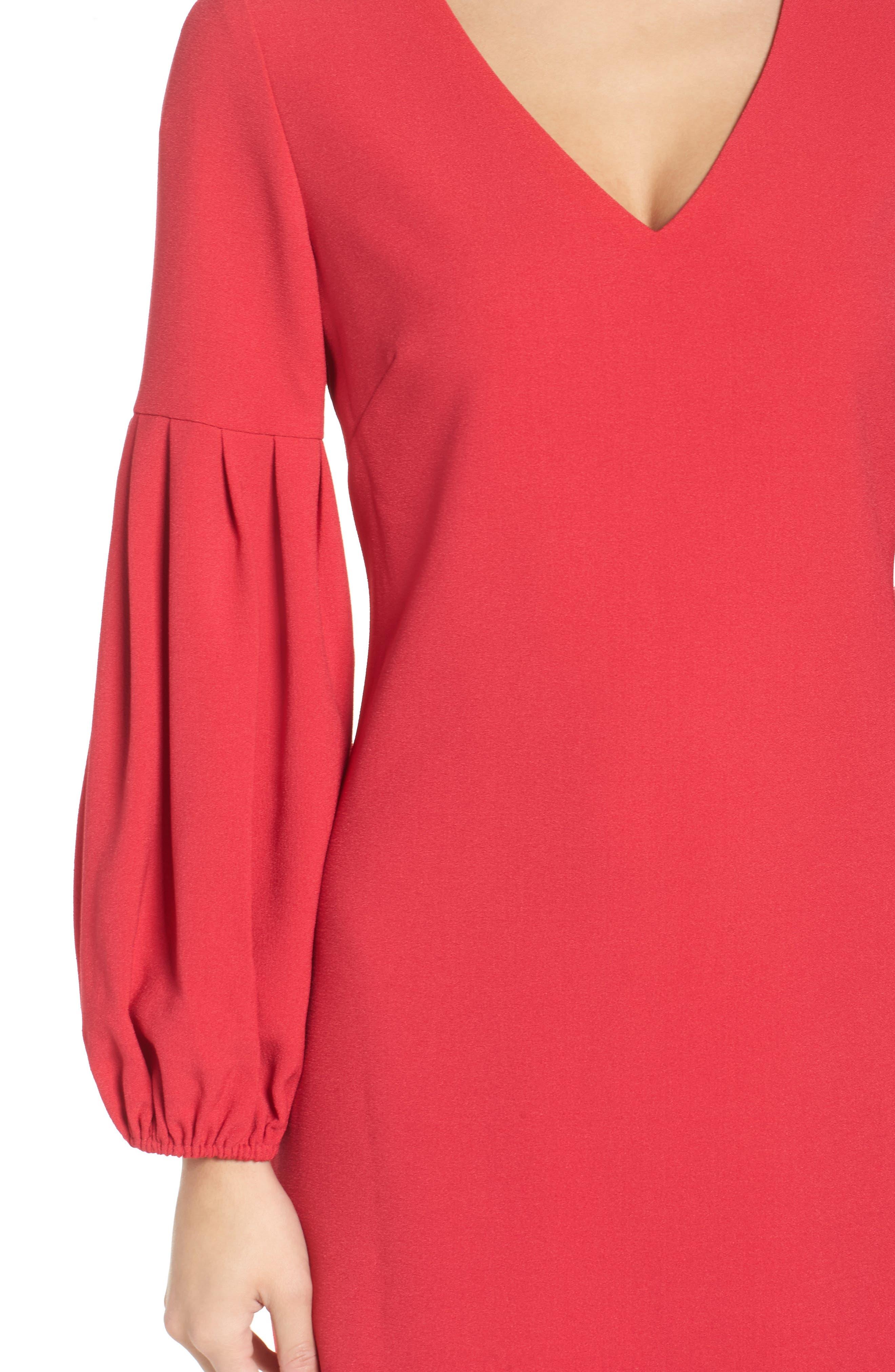 Bloused Sleeve Shift Dress,                             Alternate thumbnail 4, color,                             610