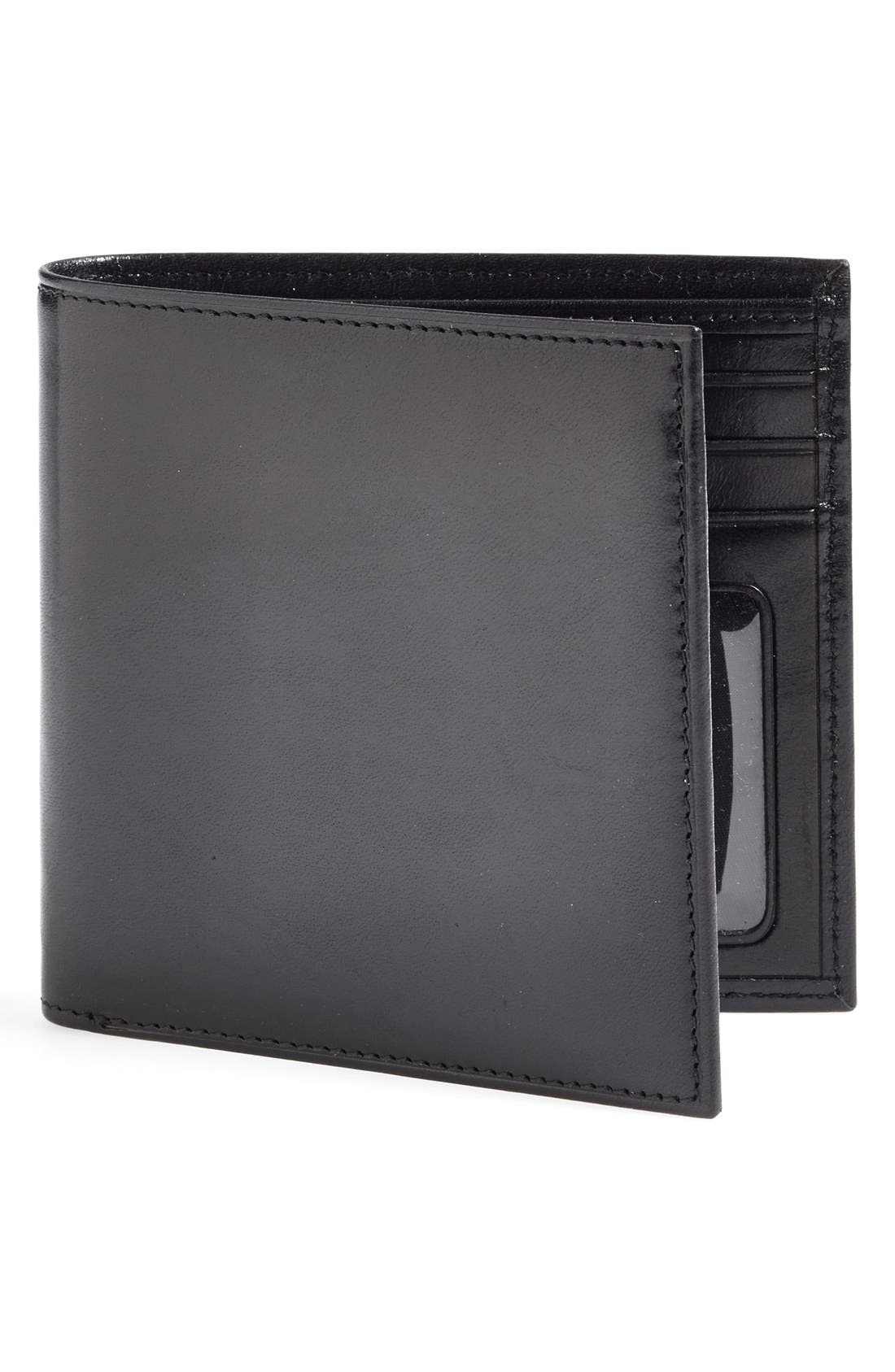 'Old Leather' Bifold Wallet,                             Main thumbnail 1, color,                             001