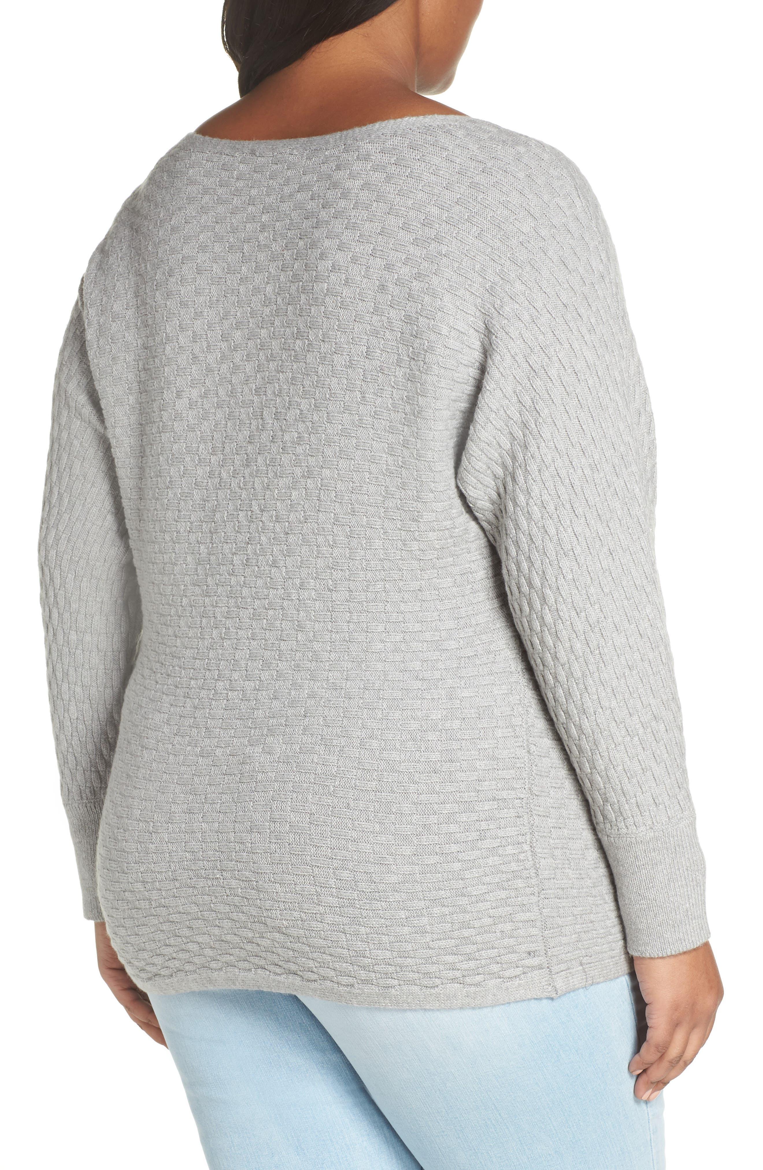 Boatneck Sweater,                             Alternate thumbnail 2, color,                             LIGHT HEATHER GREY