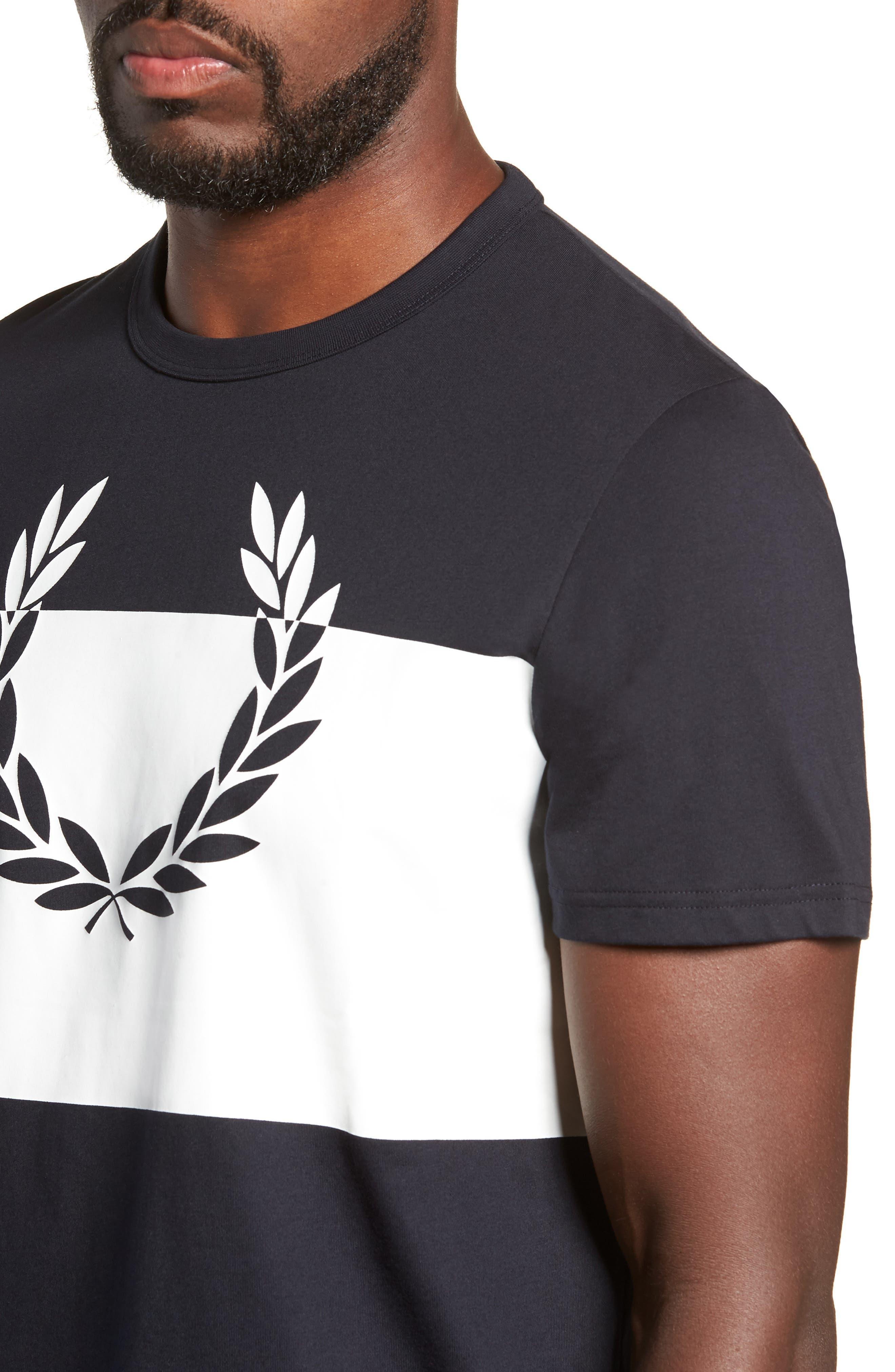 Laurel Wreath Graphic T-Shirt,                             Alternate thumbnail 4, color,                             NAVY