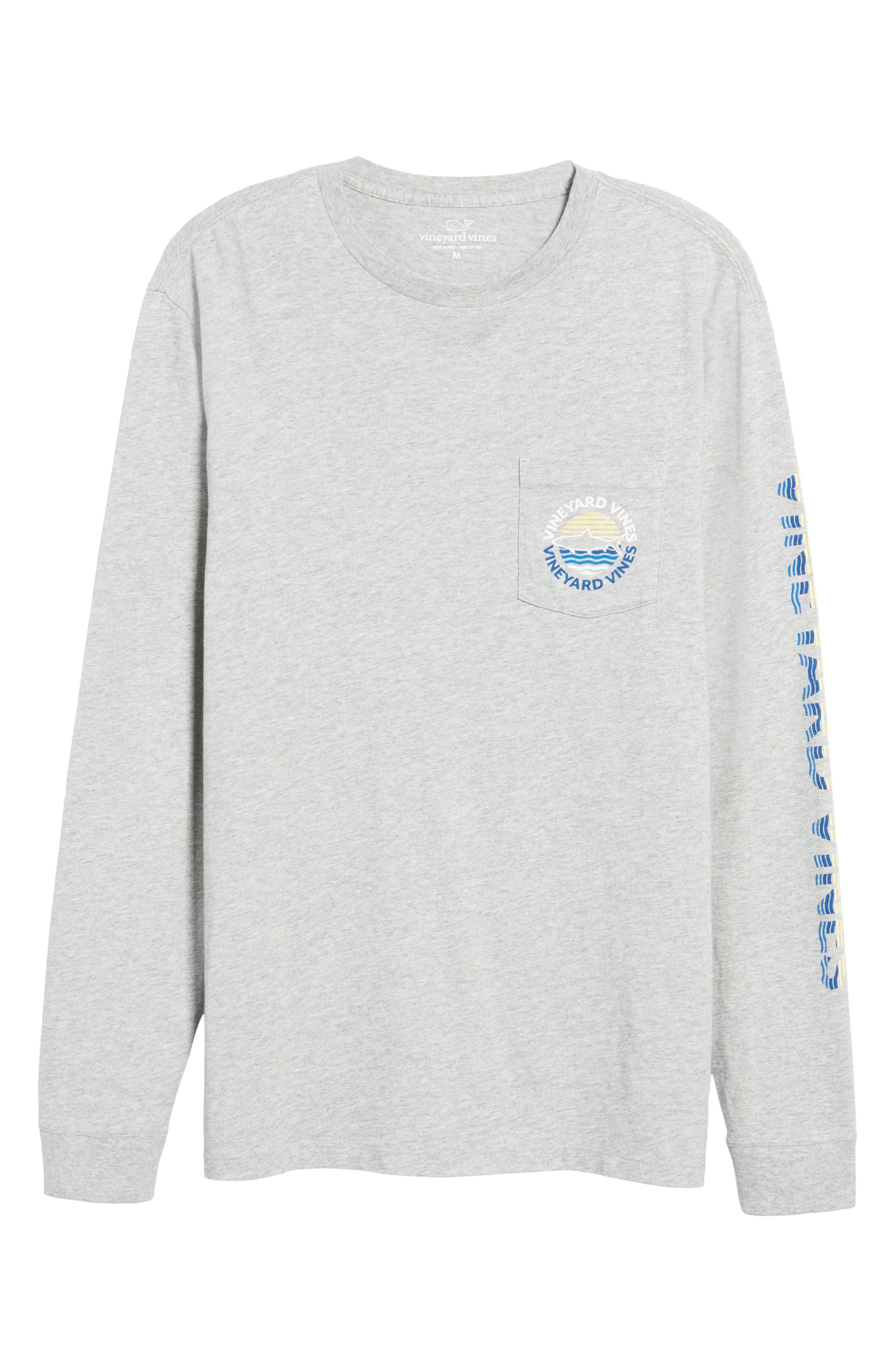 Fish Sunset Dot Pocket T-Shirt,                             Alternate thumbnail 6, color,                             039