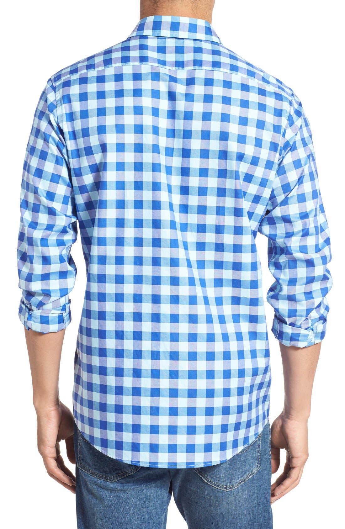 'Branston' Sports Fit Check Sport Shirt,                             Alternate thumbnail 2, color,                             456