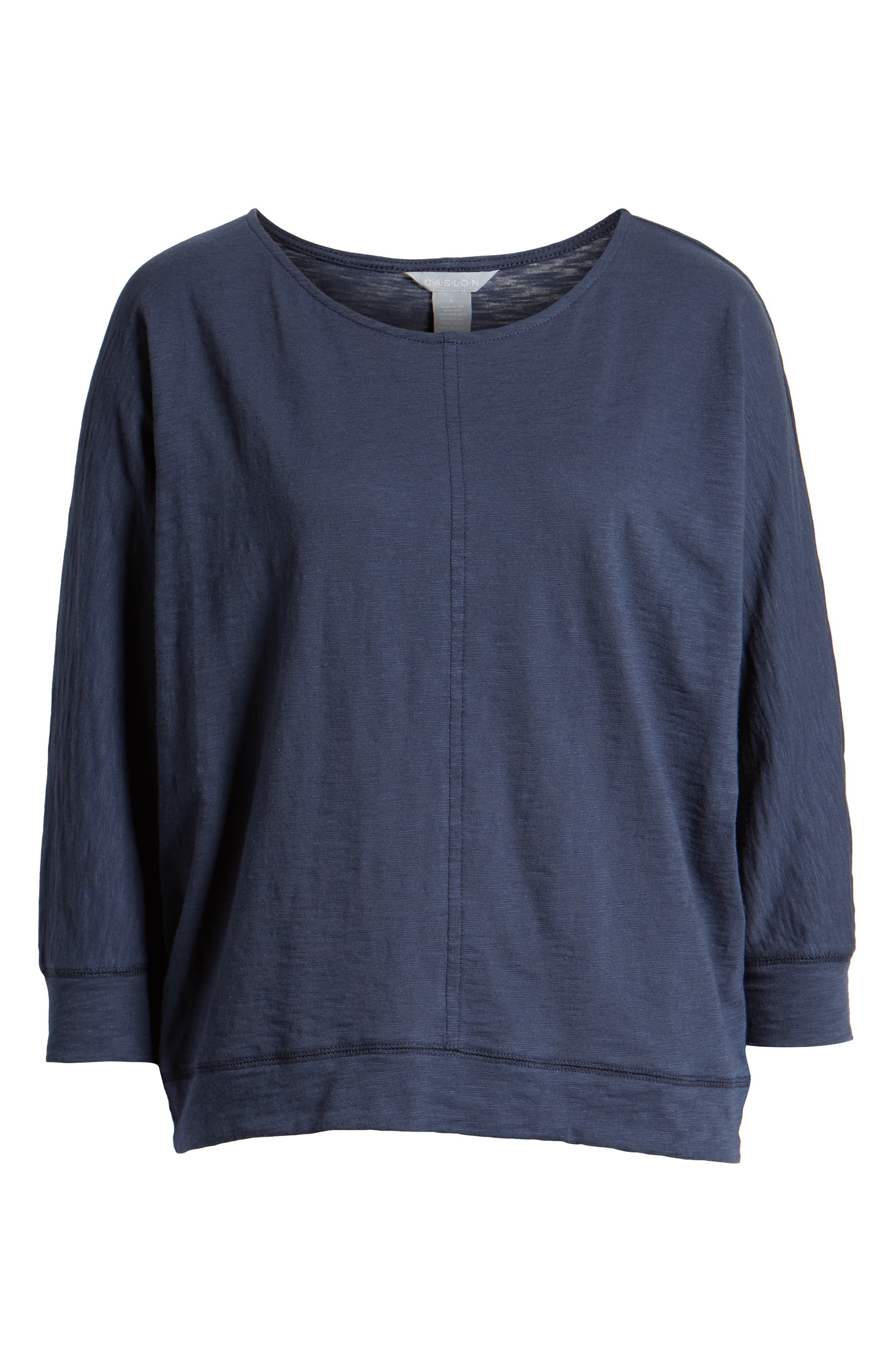 CASLON<SUP>®</SUP>,                             Off-Duty Dolman Sleeve Tee,                             Alternate thumbnail 6, color,                             NAVY PEACOAT