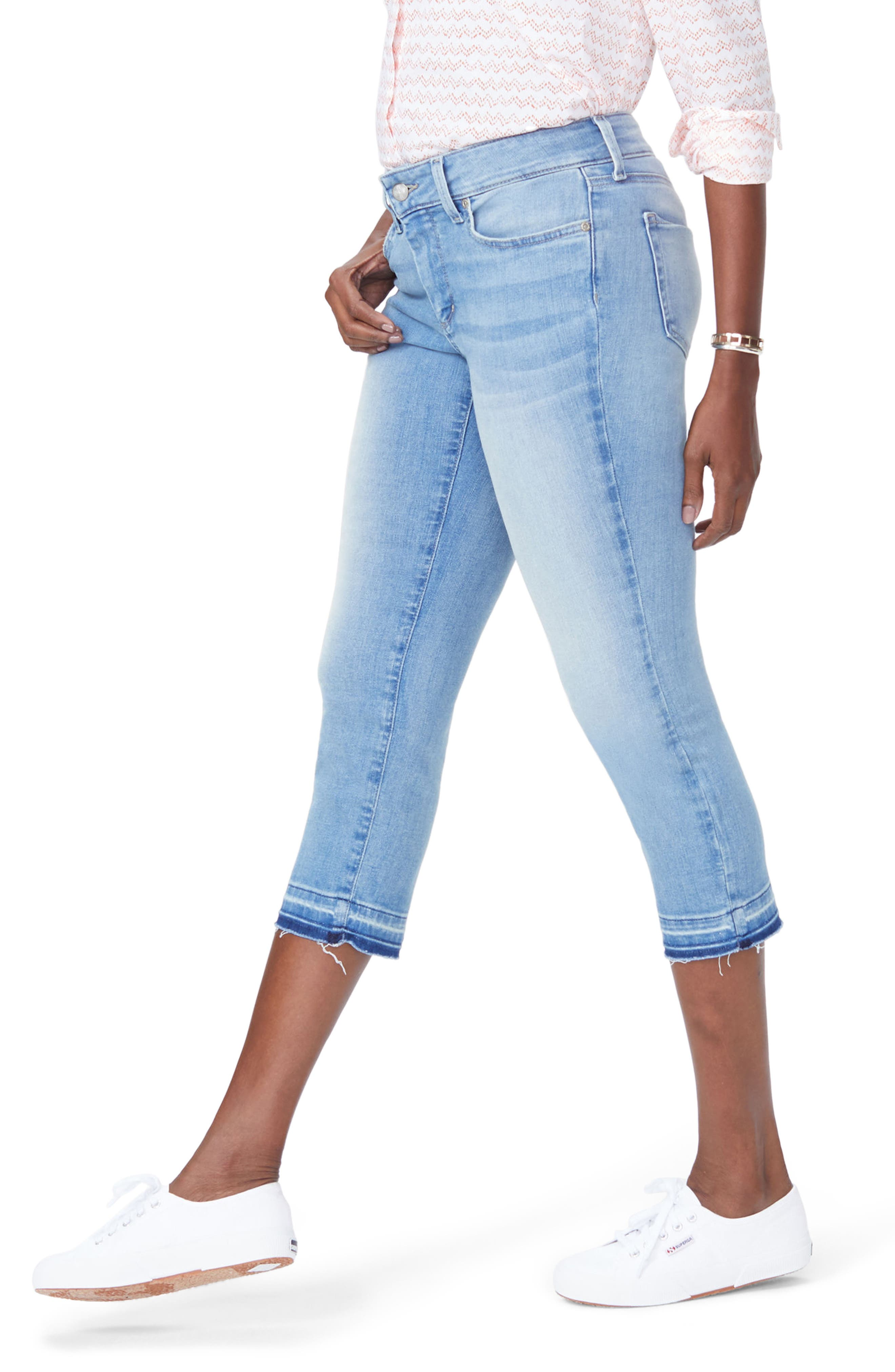 Release Hem Capri Skinny Jeans,                             Alternate thumbnail 3, color,                             DREAM STATE