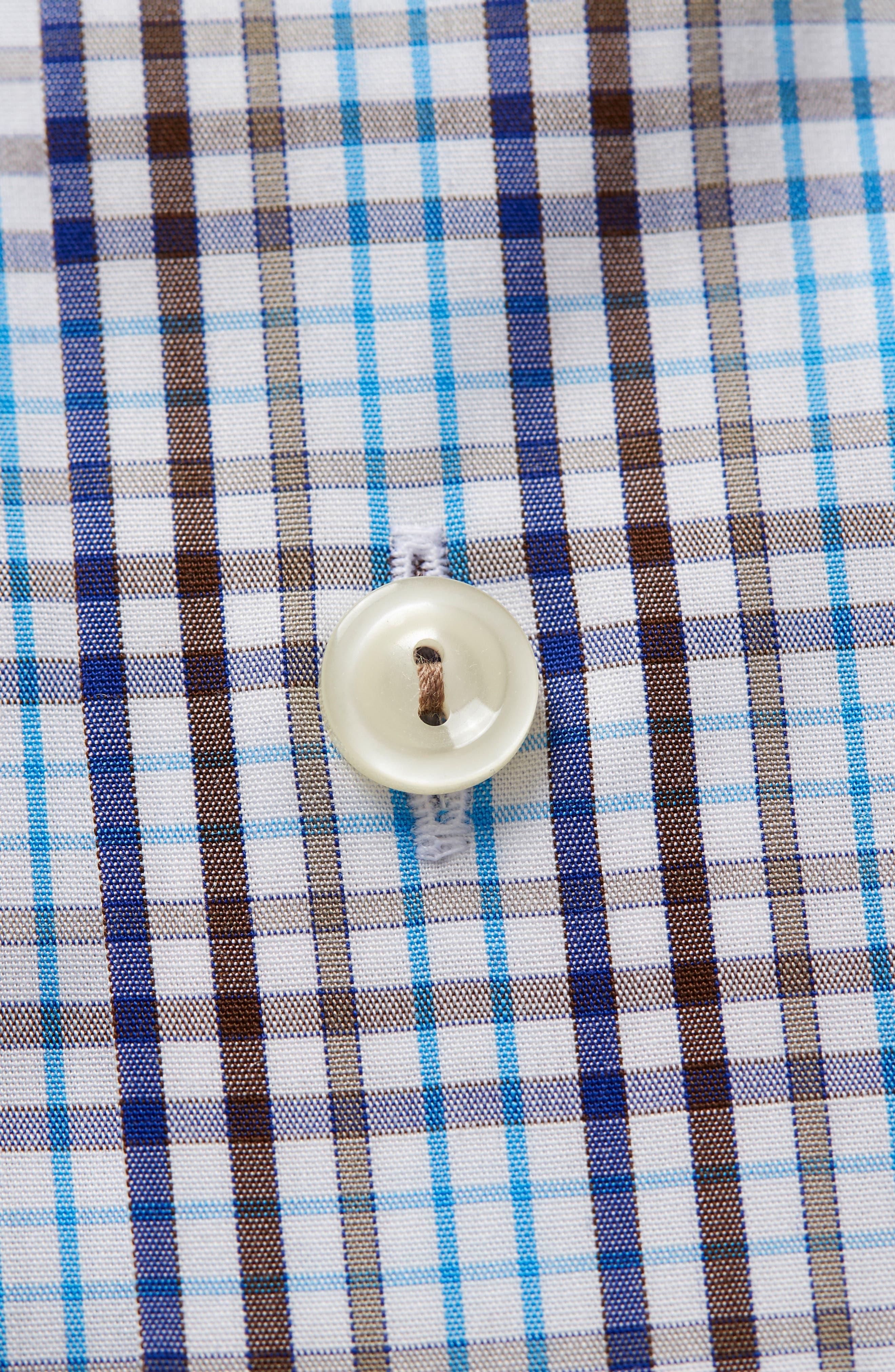 Contemporary Fit Check Dress Shirt,                             Alternate thumbnail 6, color,                             MULTI
