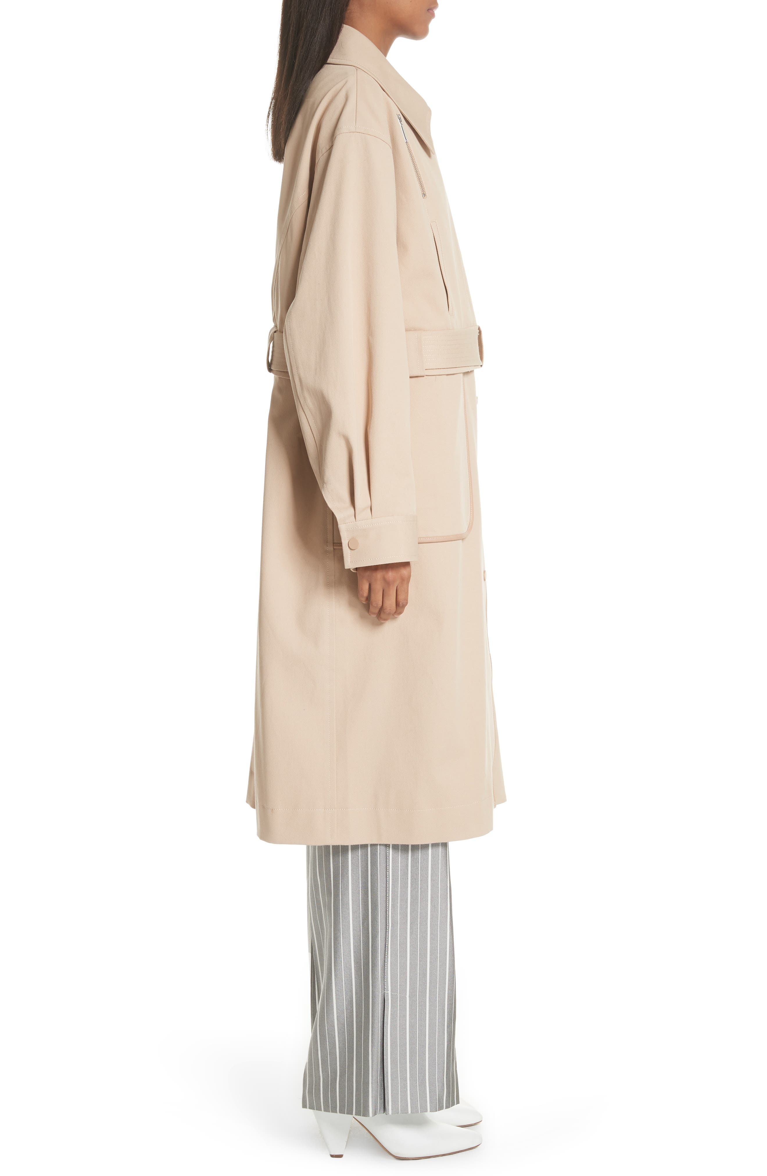 Sailor Stretch Twill Convertible Trench Coat,                             Alternate thumbnail 4, color,                             FAWN