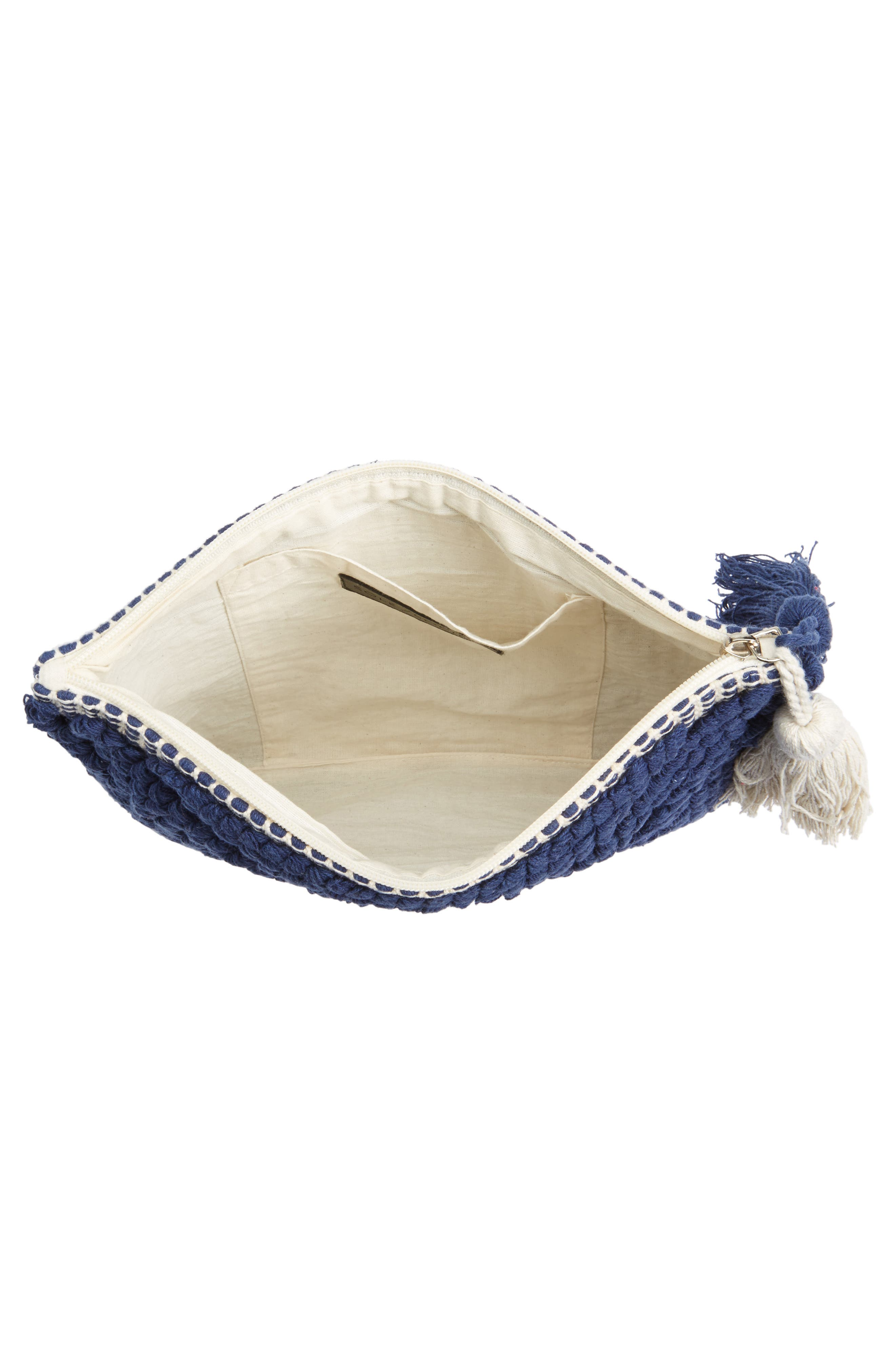 Palisades Tasseled Woven Clutch,                             Alternate thumbnail 19, color,