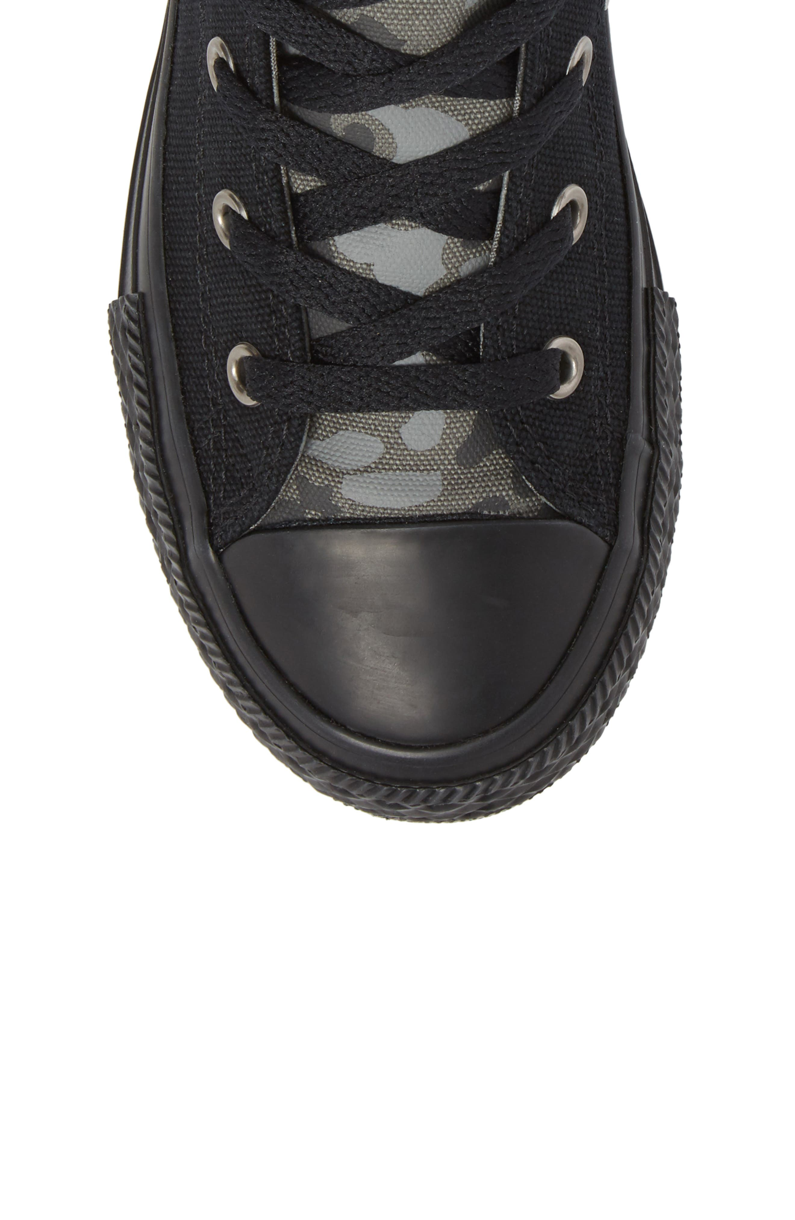 Chuck Taylor<sup>®</sup> All Star<sup>®</sup> Camo High Top Sneaker,                             Alternate thumbnail 5, color,                             001
