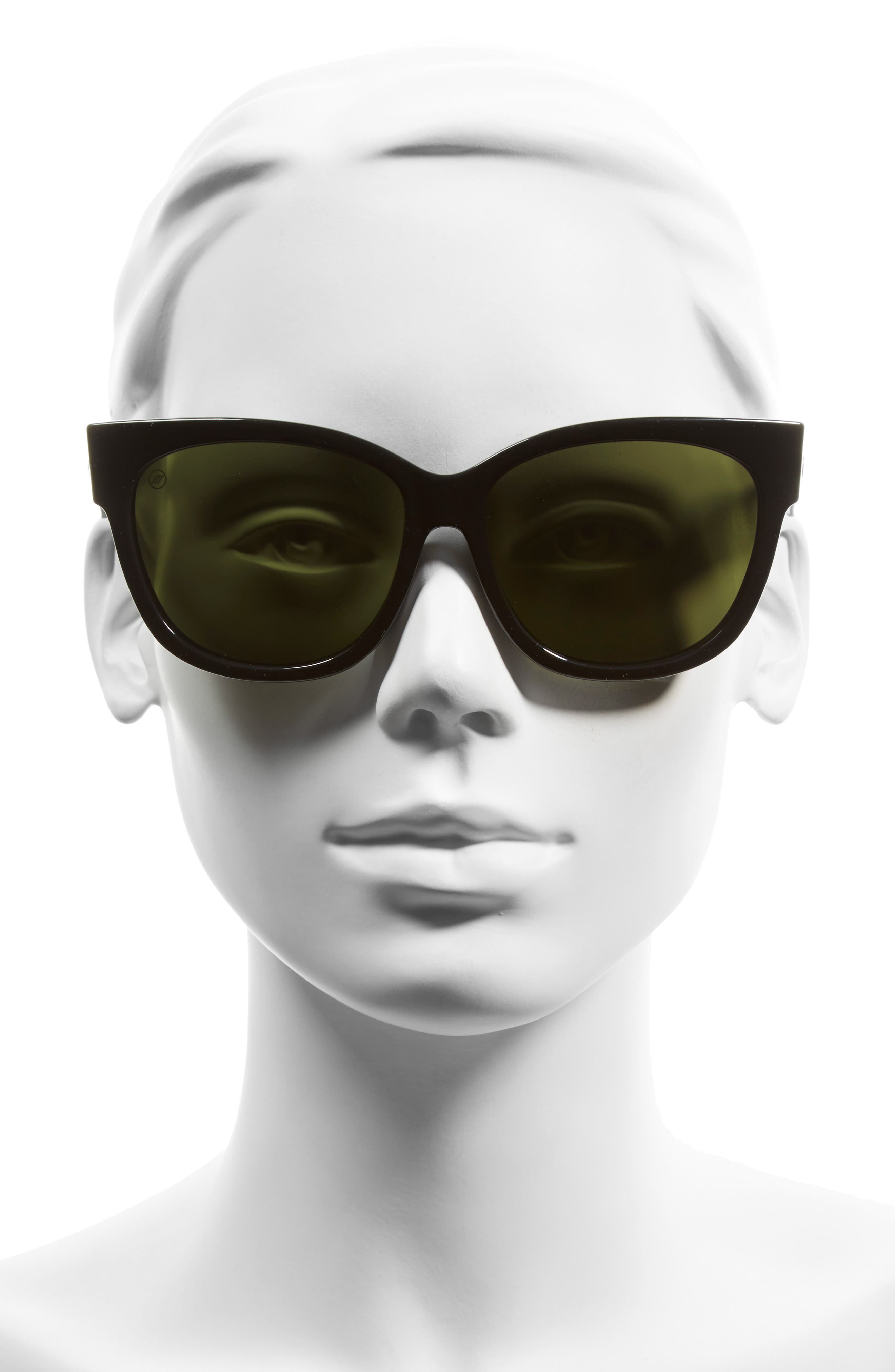 'Danger Cat' 58mm Retro Sunglasses,                             Alternate thumbnail 8, color,