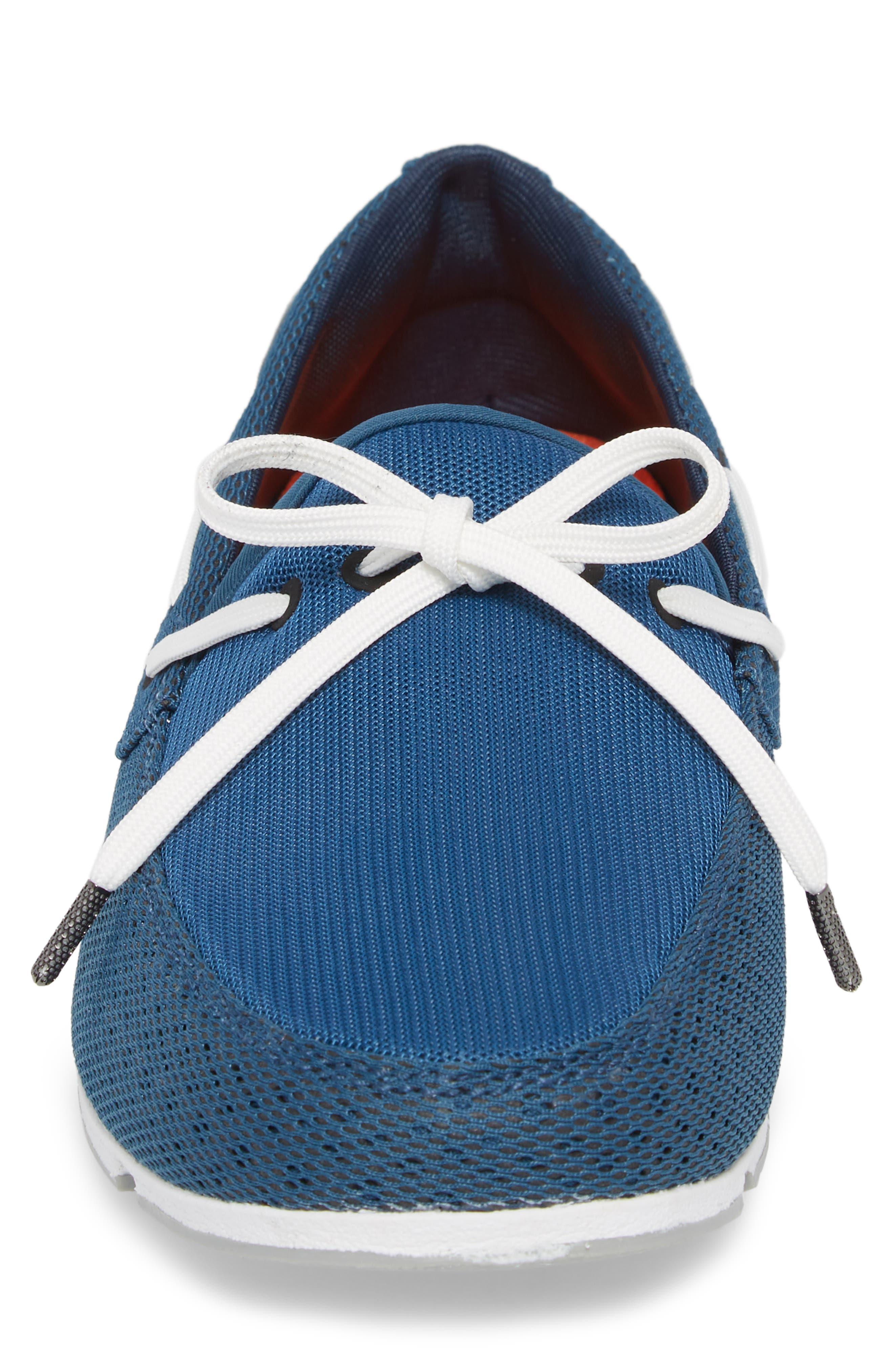 Breeze Loafer,                             Alternate thumbnail 4, color,                             BLUE/ WHITE