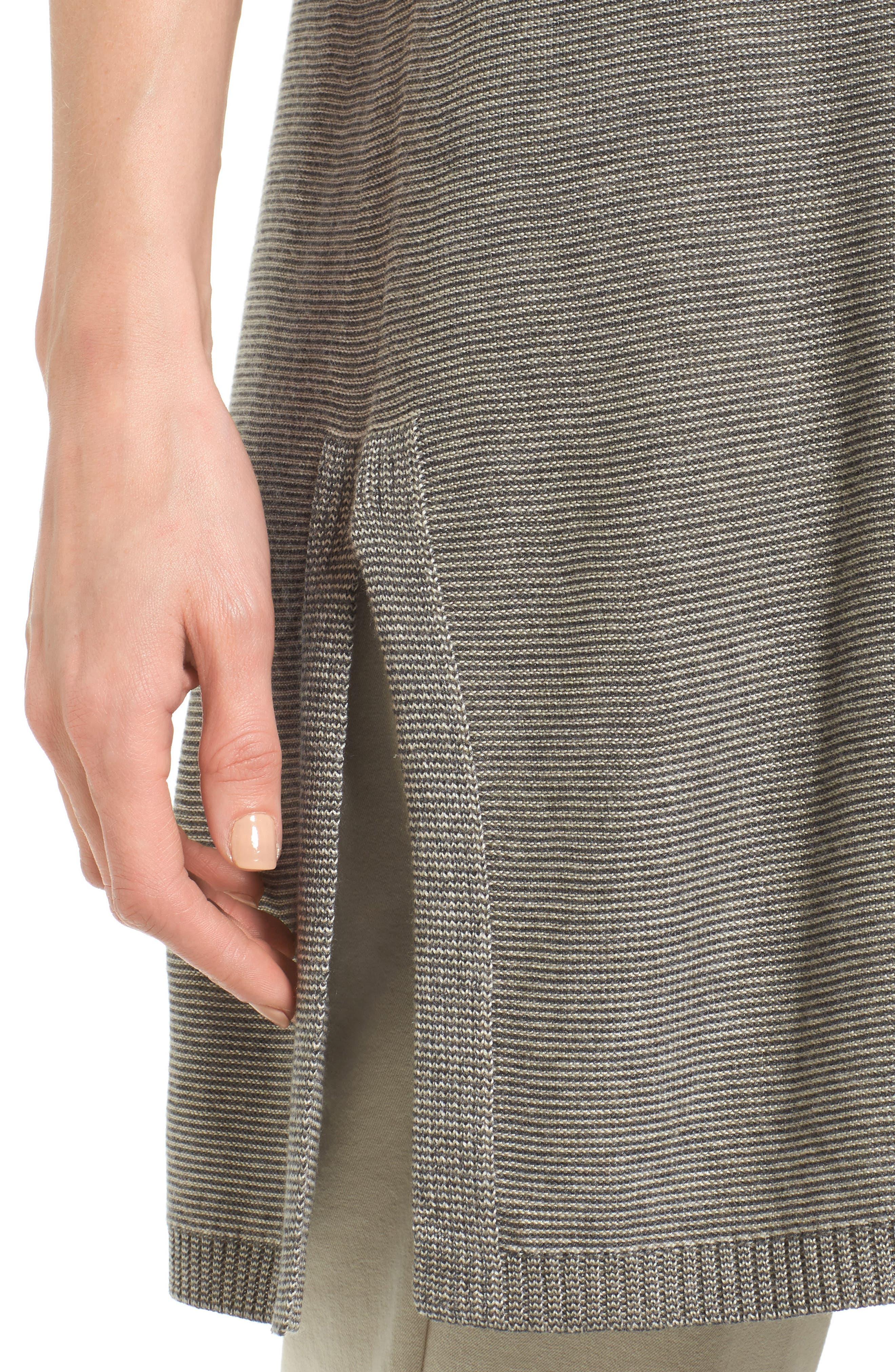 Tencel<sup>®</sup> & Merino Wool Tunic,                             Alternate thumbnail 4, color,                             030