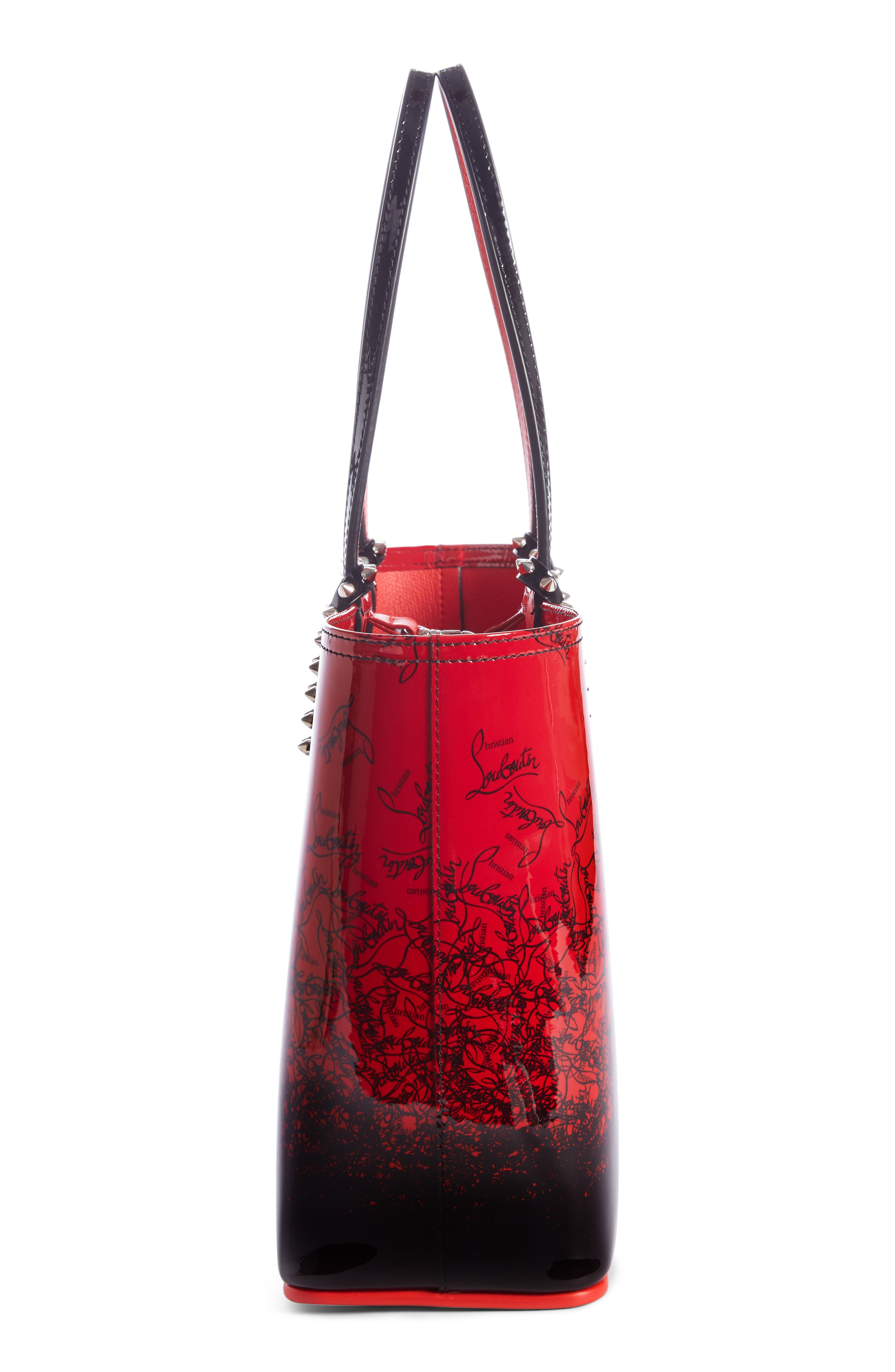 CHRISTIAN LOUBOUTIN,                             Cabata Dégradé Patent Leather Tote,                             Alternate thumbnail 3, color,                             600